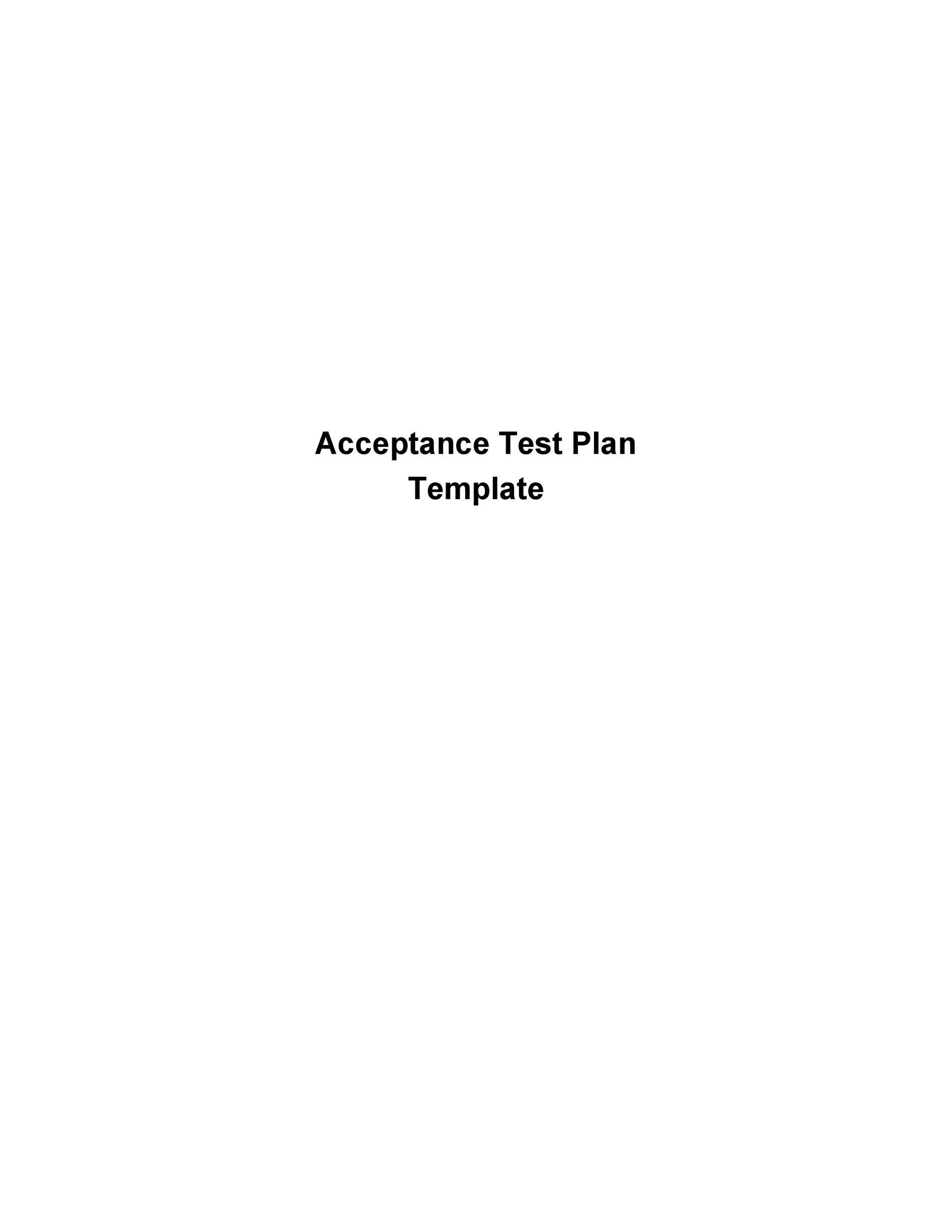 Free Test Plan Template 07