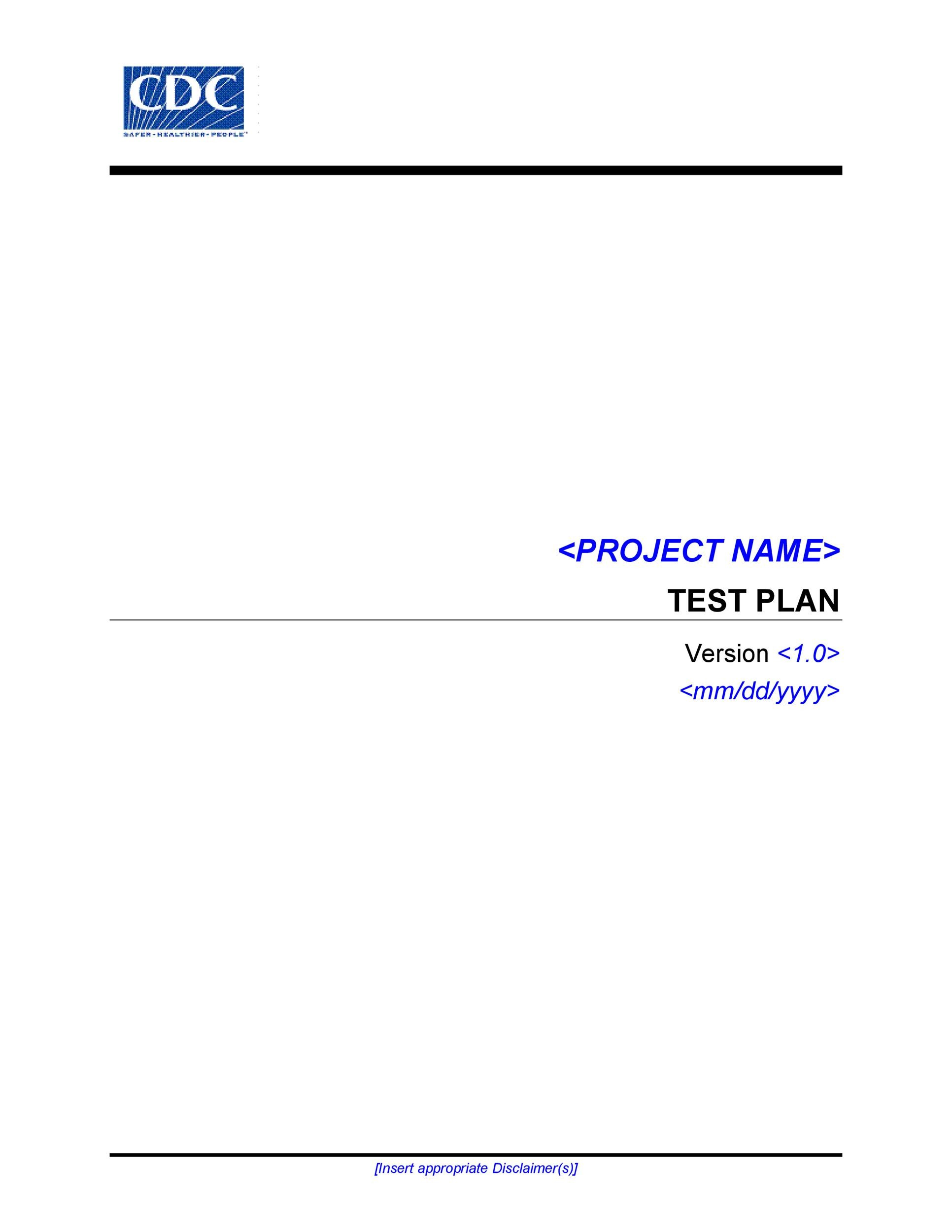 Free Test Plan Template 08