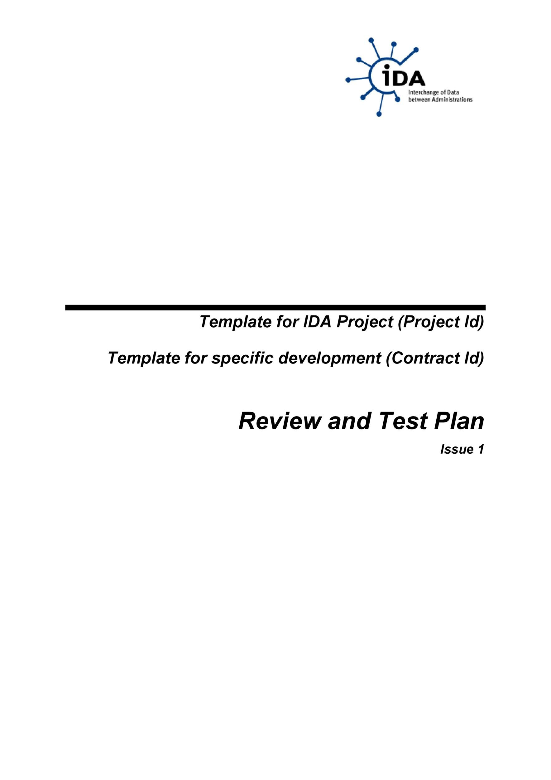 Free Test Plan Template 09
