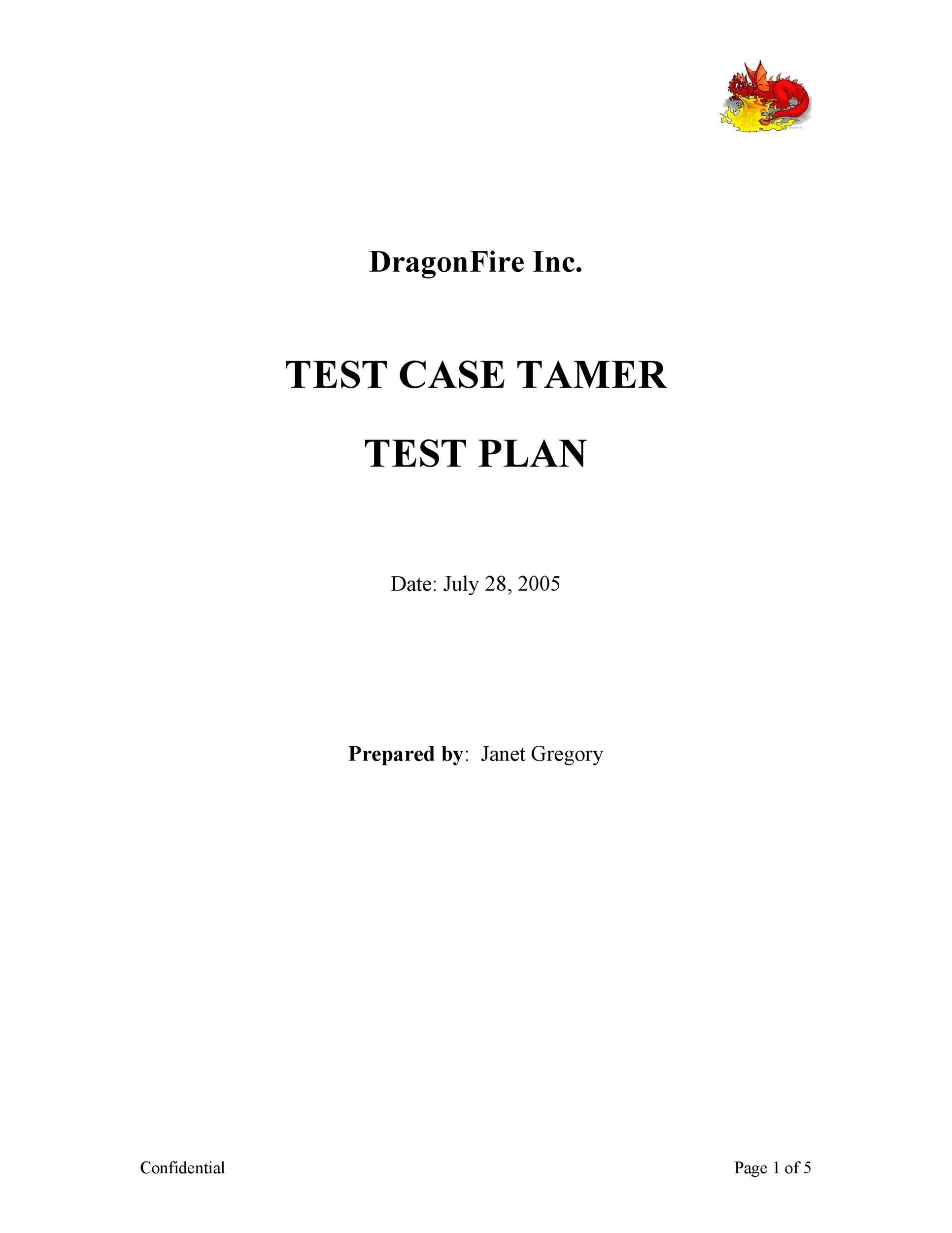 Free Test Plan Template 11