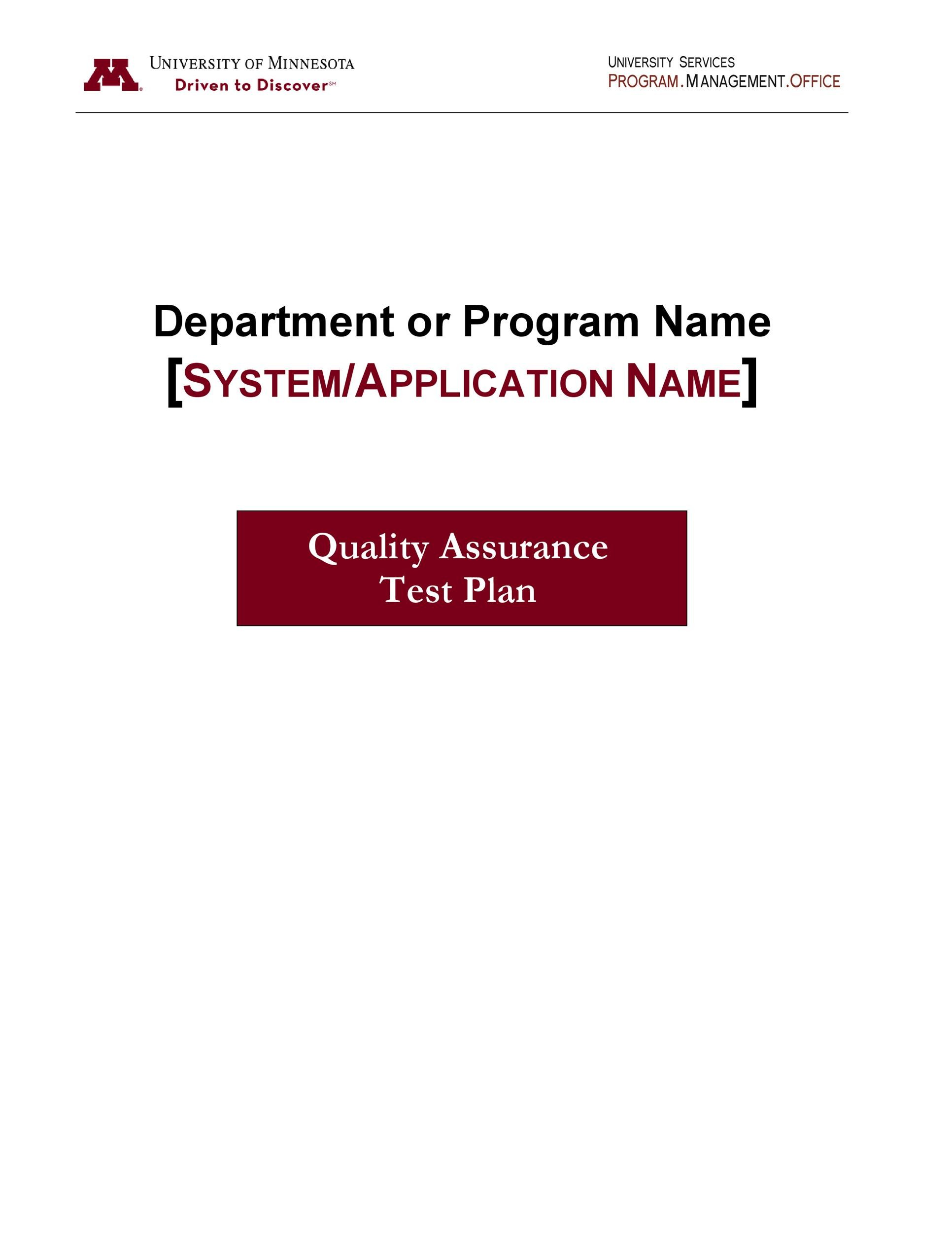 Free Test Plan Template 13