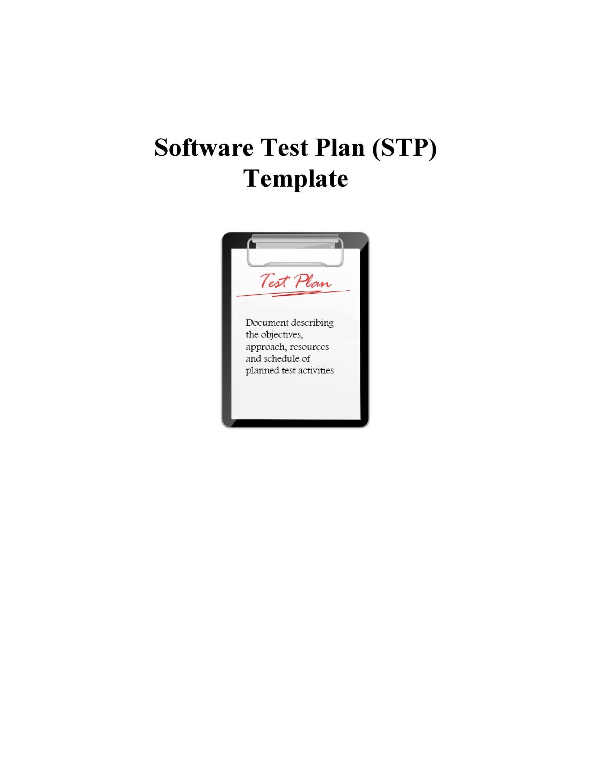 Free Test Plan Template 26