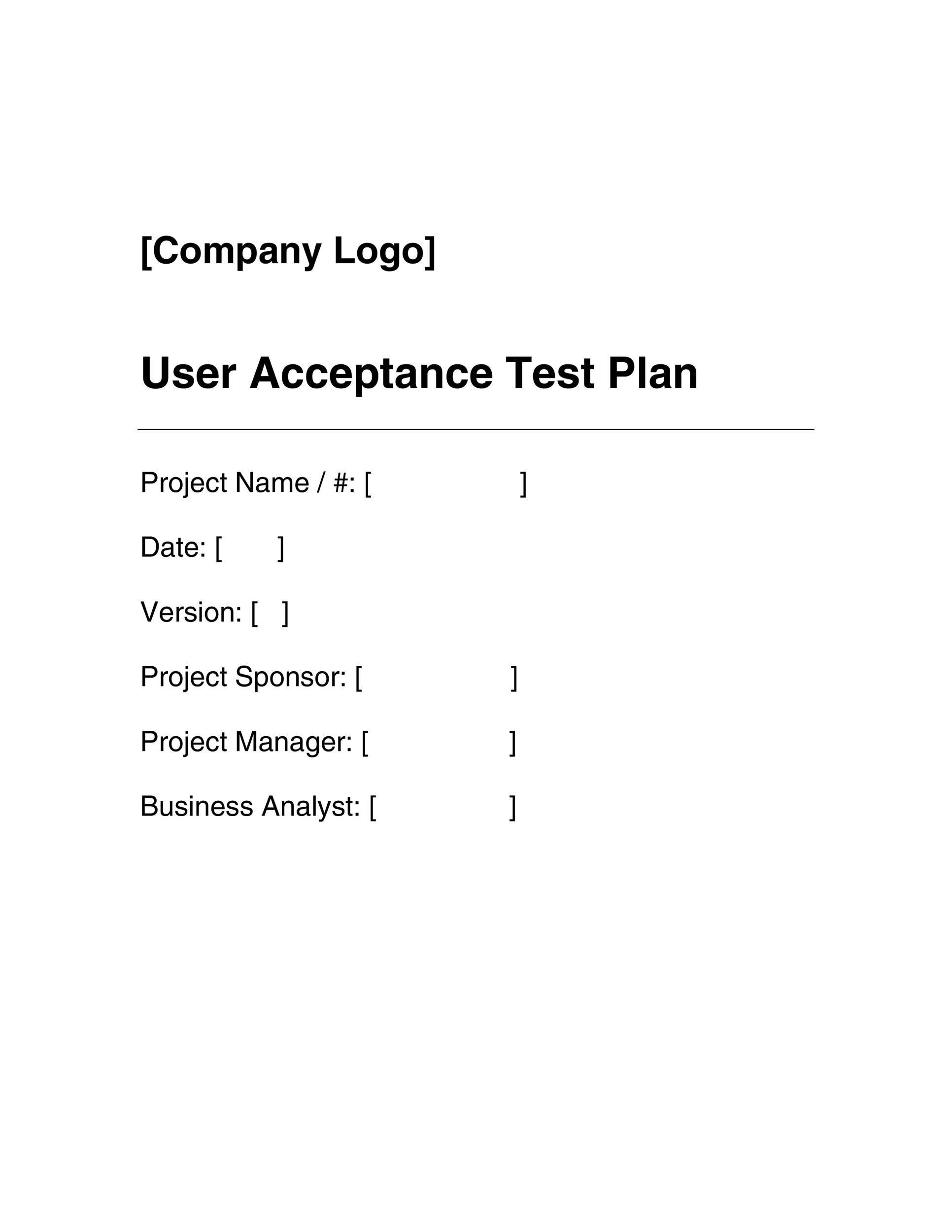 Free Test Plan Template 29