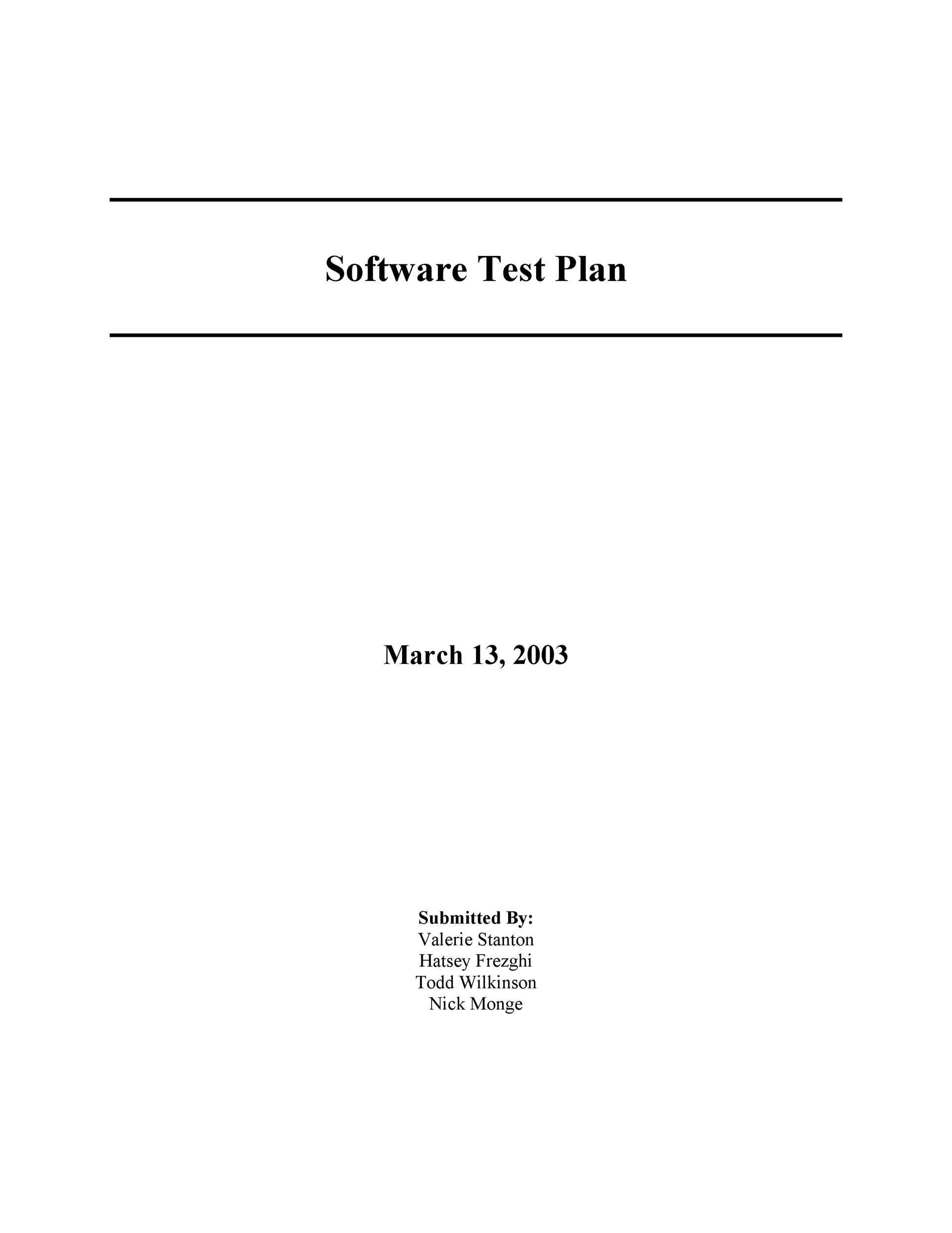 Free Test Plan Template 34