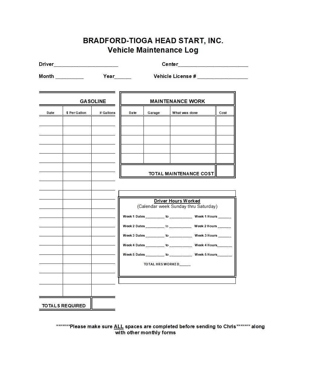 Free Vehicle Maintenance Log Template 08