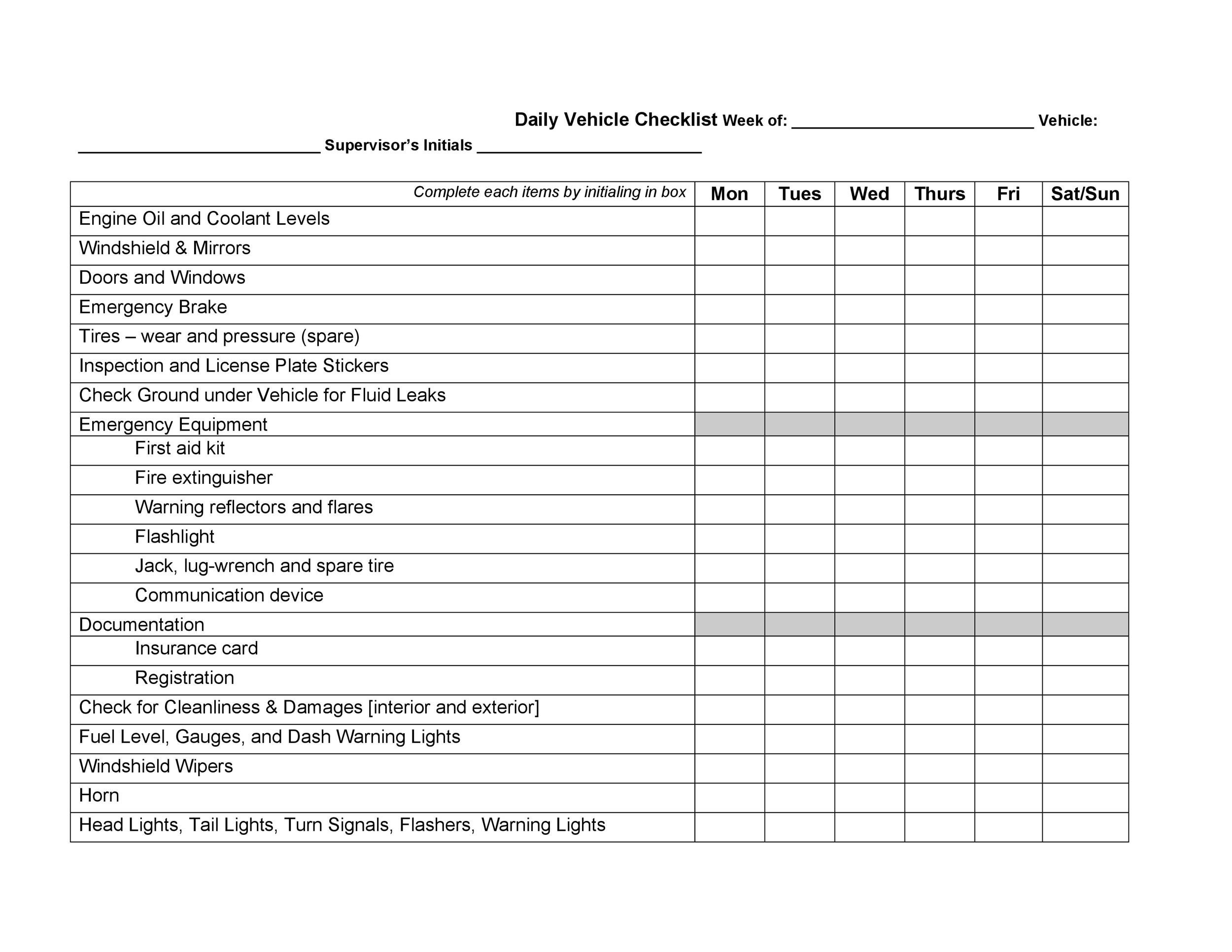 Free Vehicle Maintenance Log Template 38