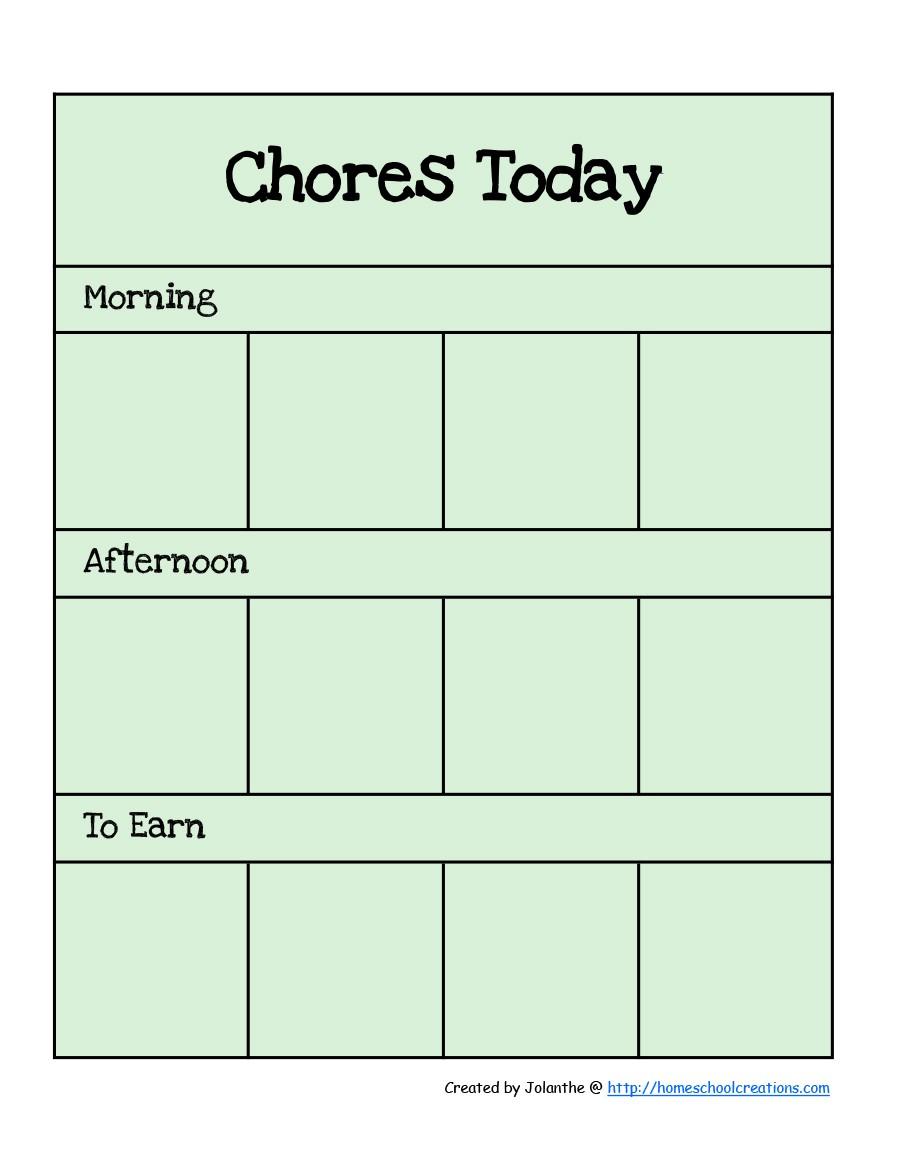 free chore chart template 08