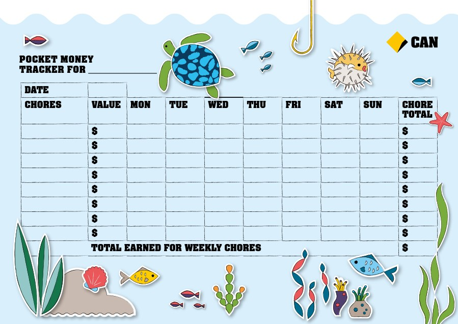 Free chore chart template 11