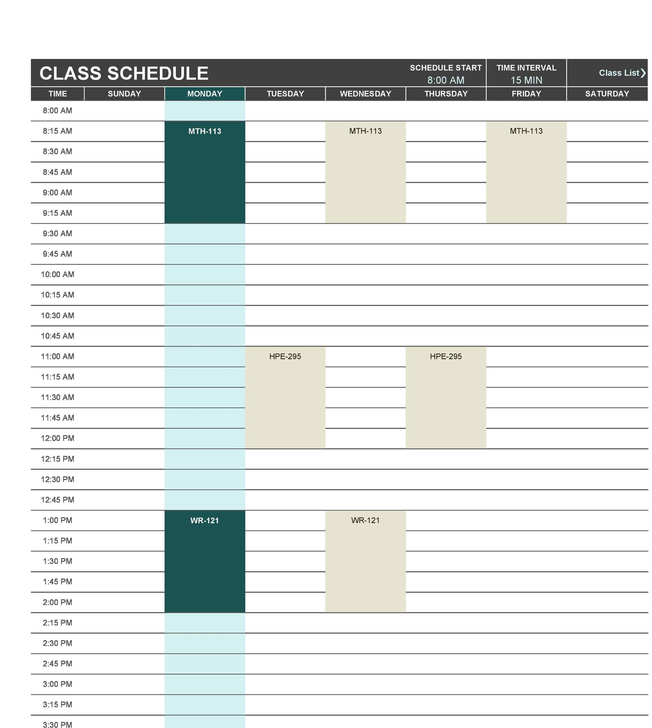 Free class roster template 31