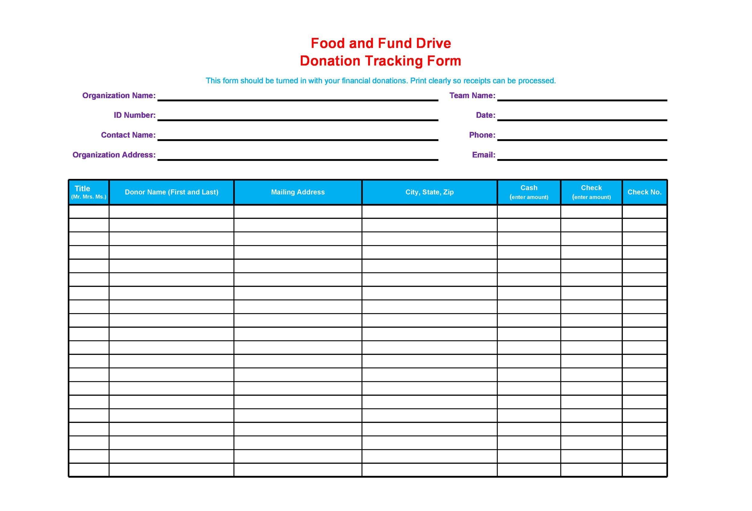 34 professional donation  u0026 fundraiser tracker templates  u1405
