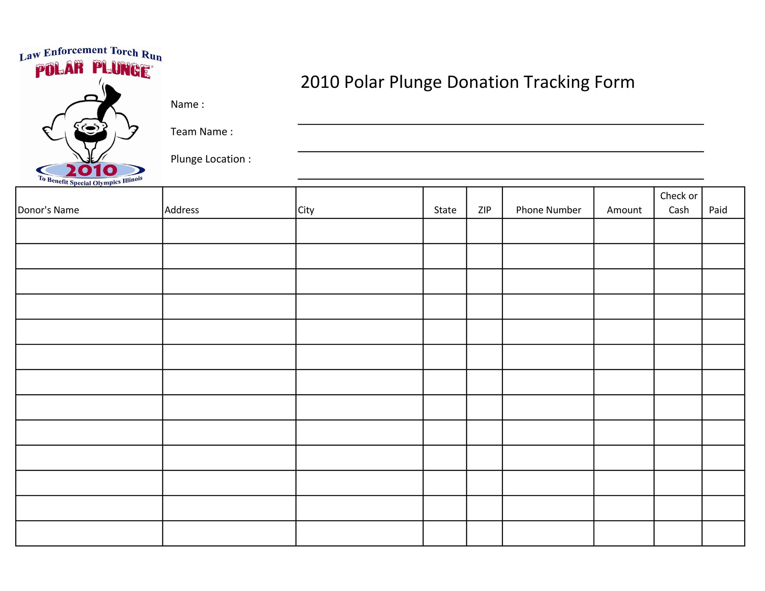 Free donation tracker 25