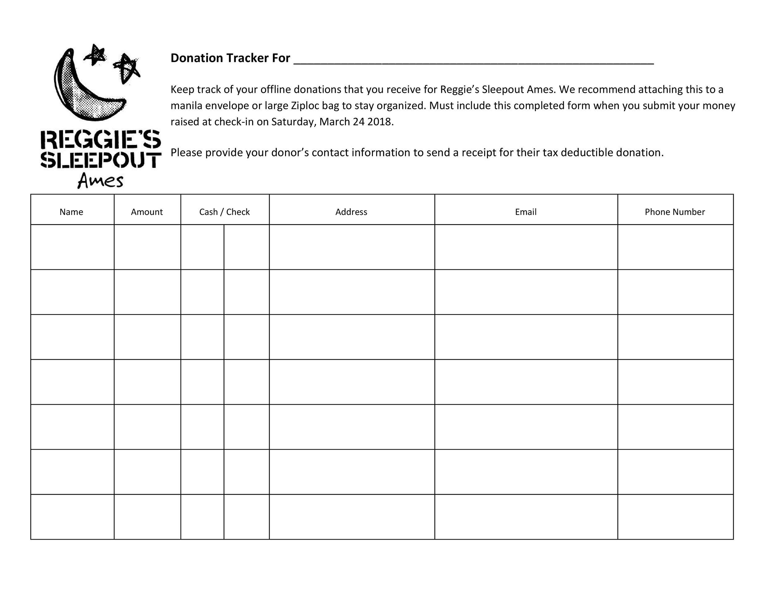 Free donation tracker 33