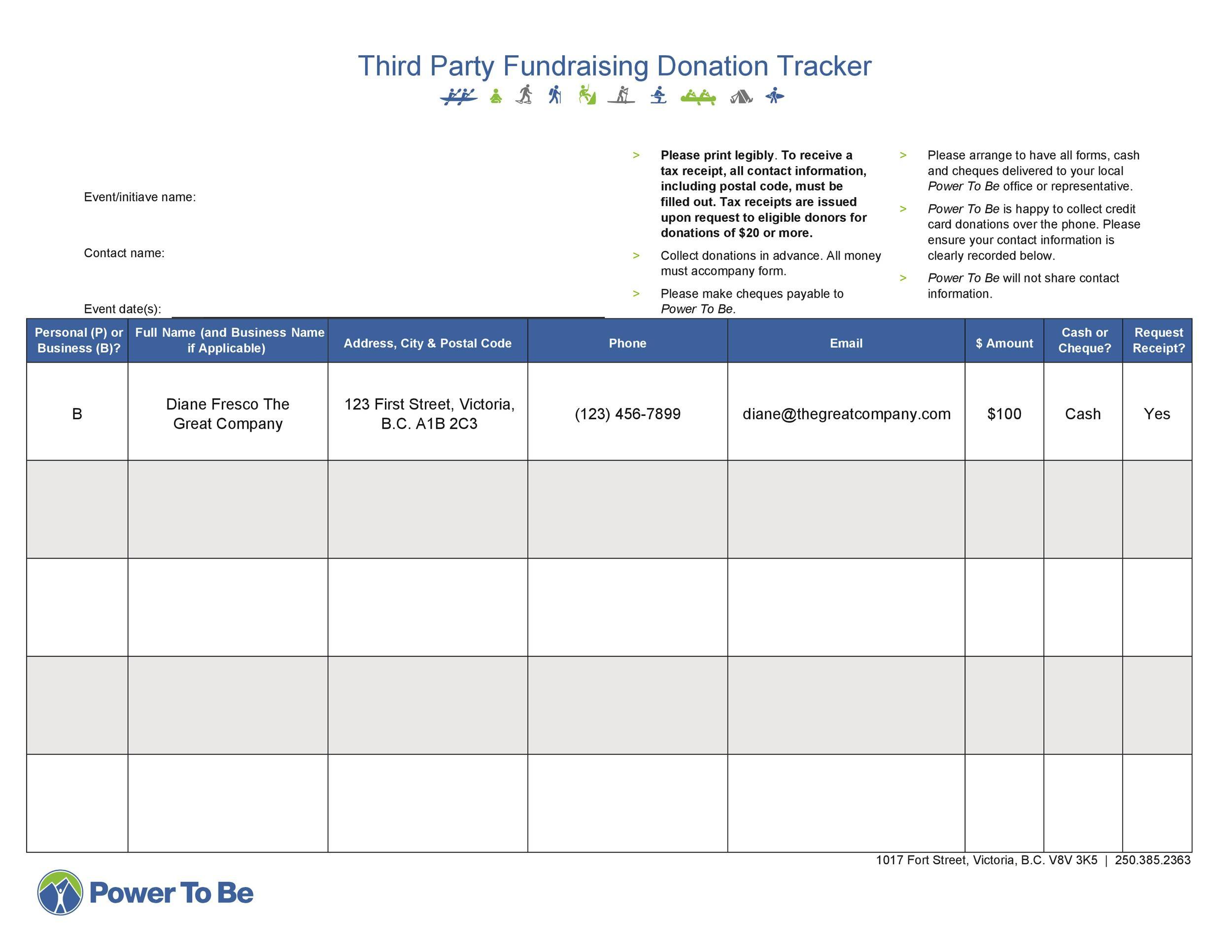Free donation tracker 34