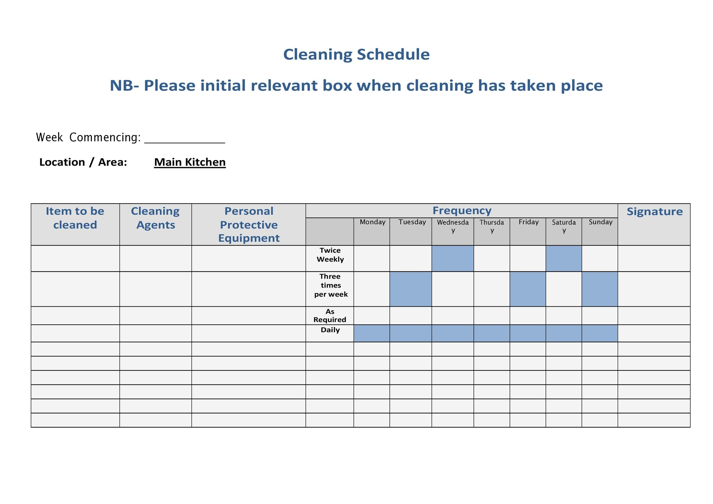 Free house cleaning checklist 16