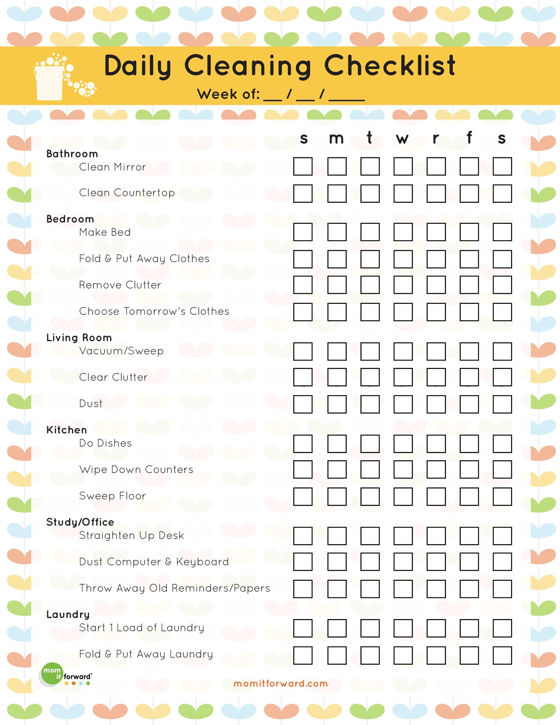 Free house cleaning checklist 18