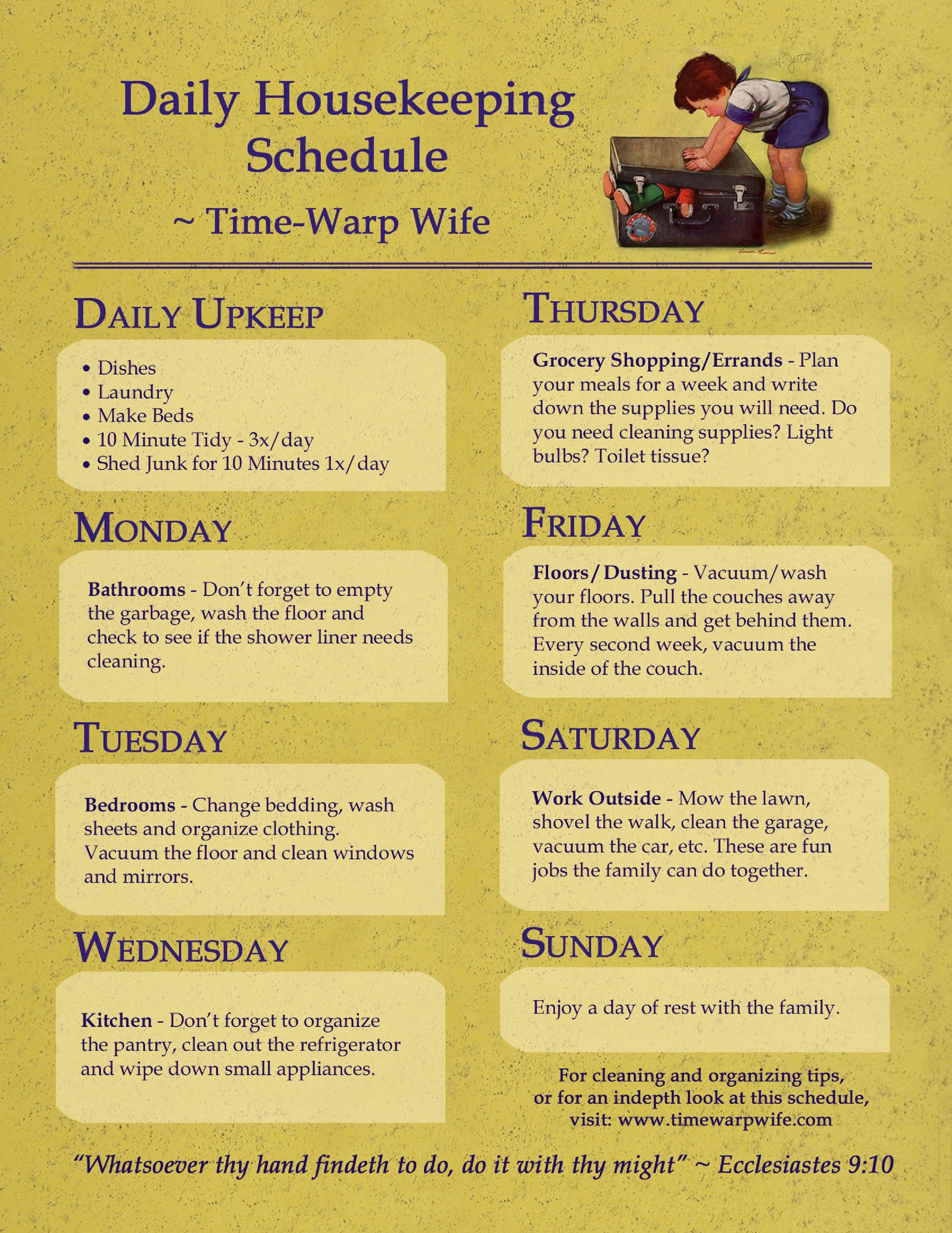 Free house cleaning checklist 22