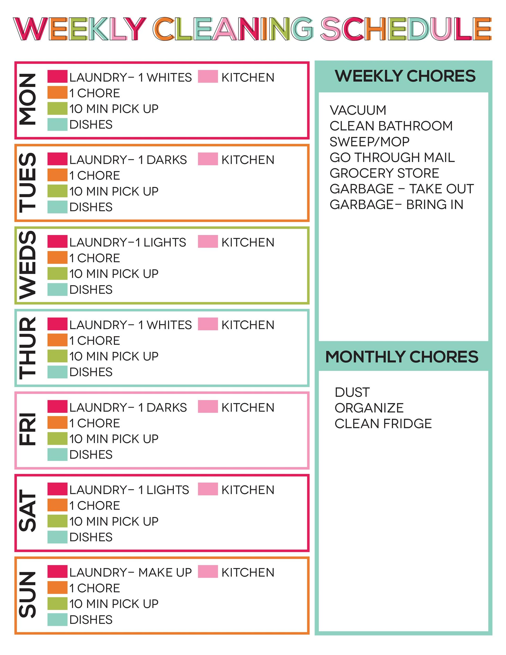 Free house cleaning checklist 28