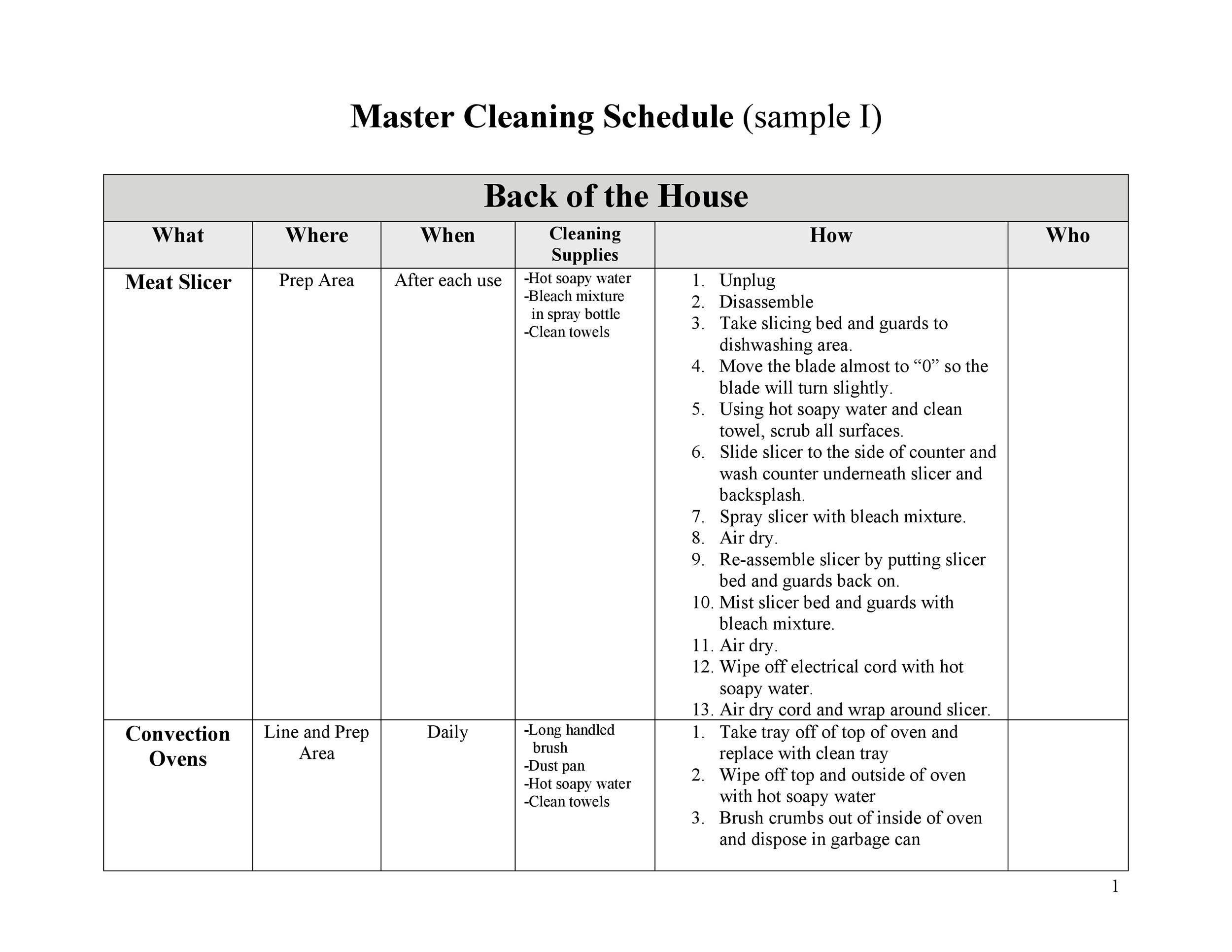 Free house cleaning checklist 39