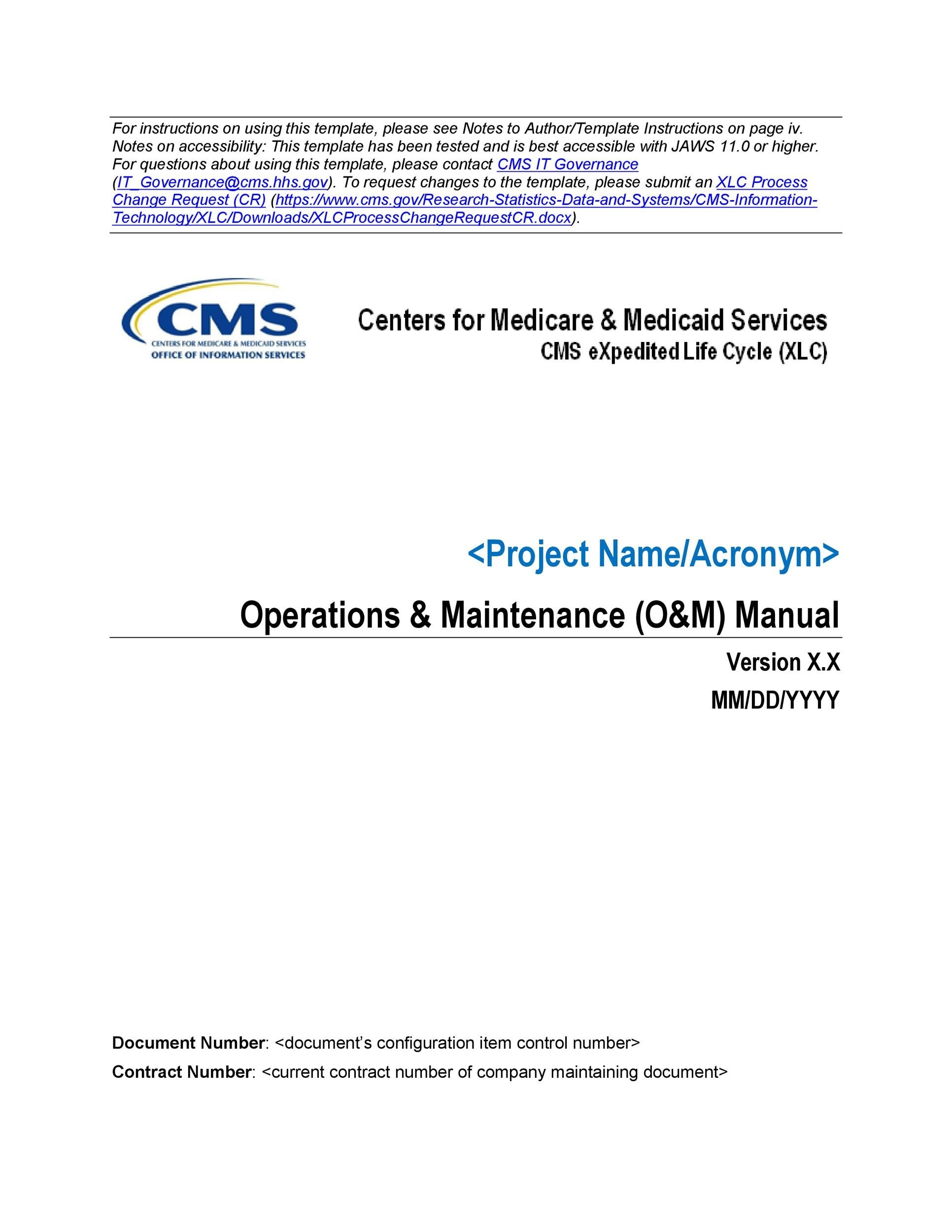 Free instruction manual template 05