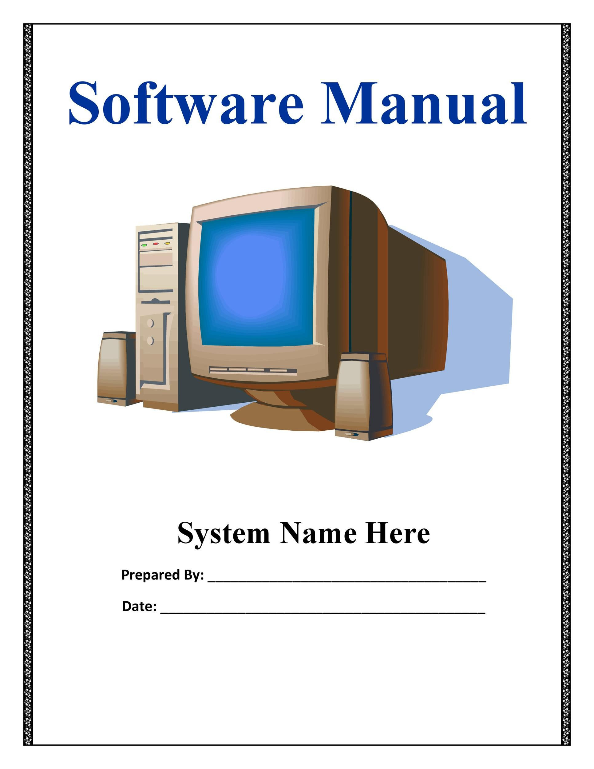 Free instruction manual template 08