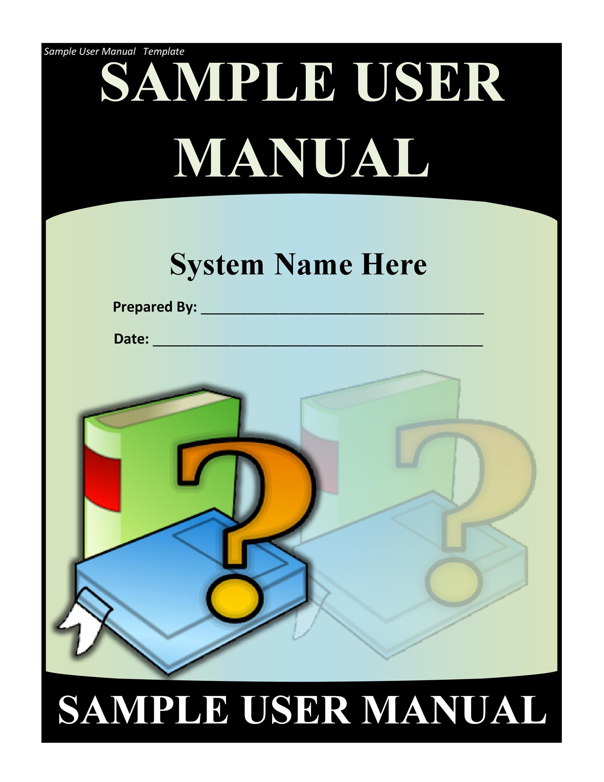 Free instruction manual template 12