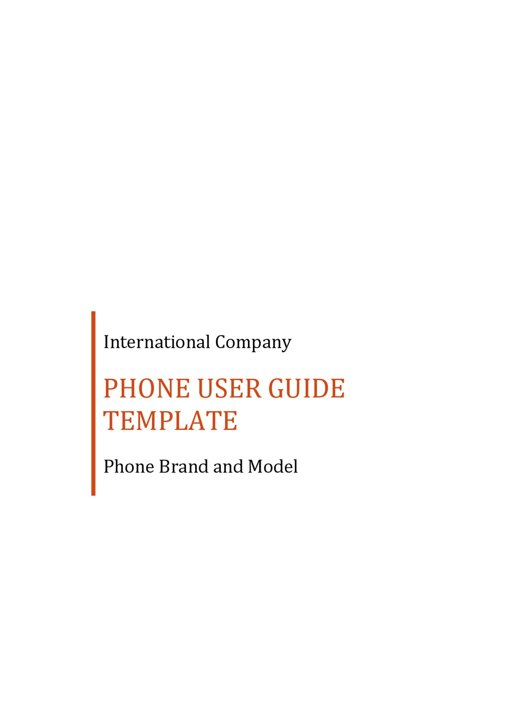 Free instruction manual template 14