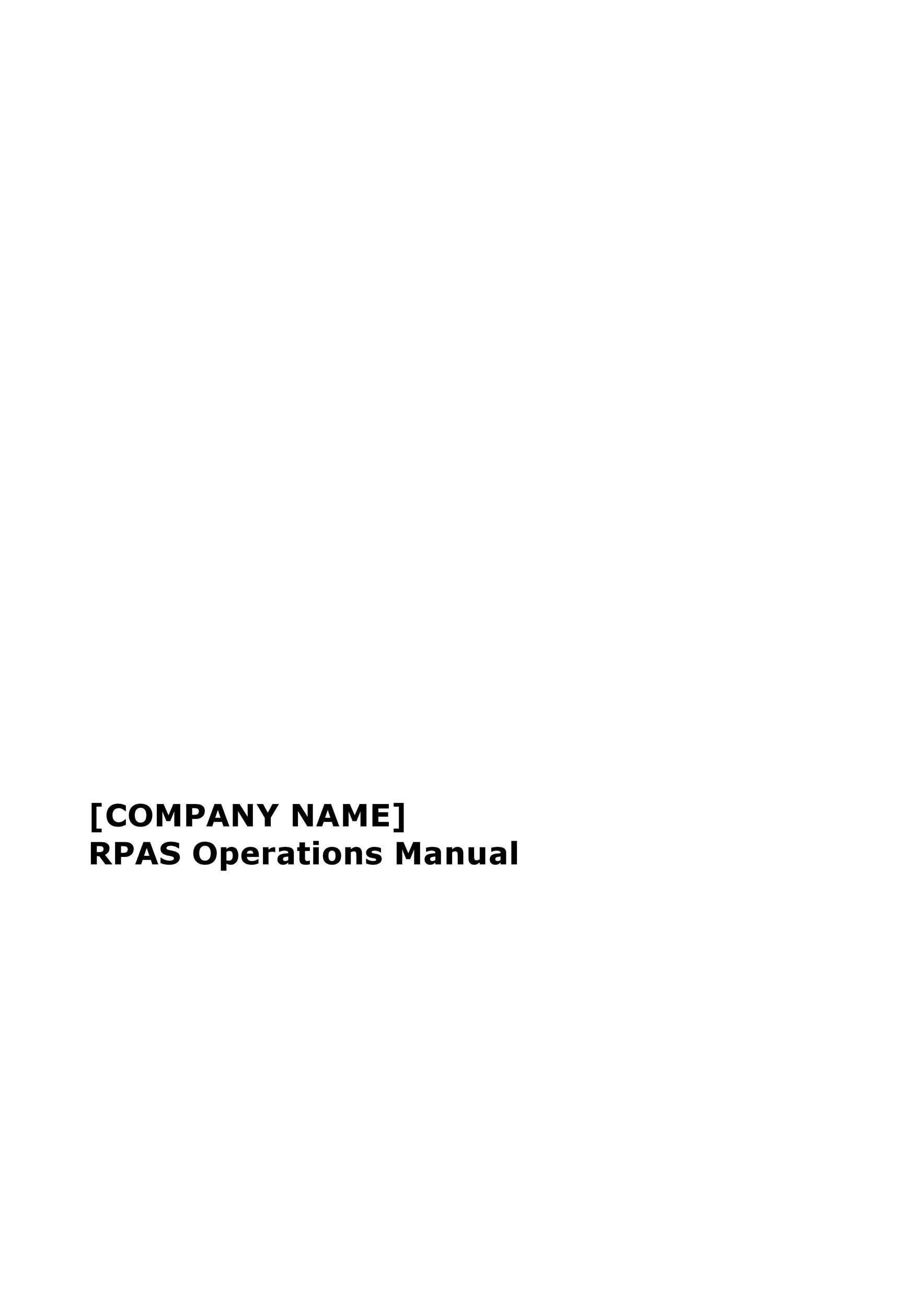 Free instruction manual template 16