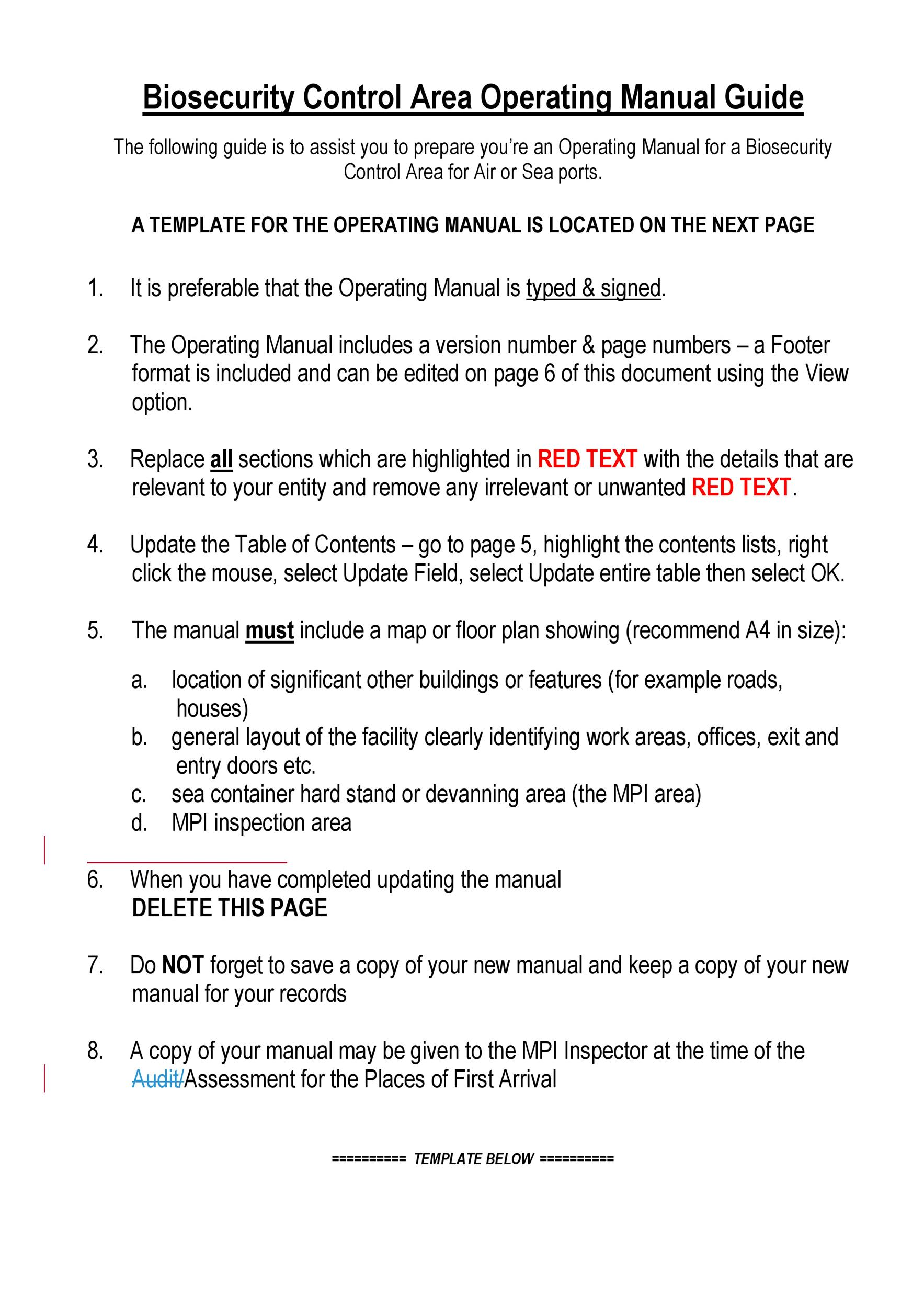 Free instruction manual template 20
