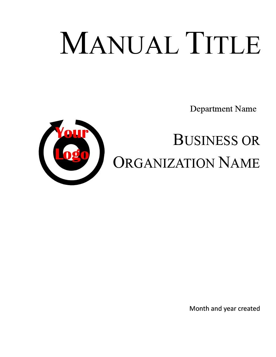 Free instruction manual template 22