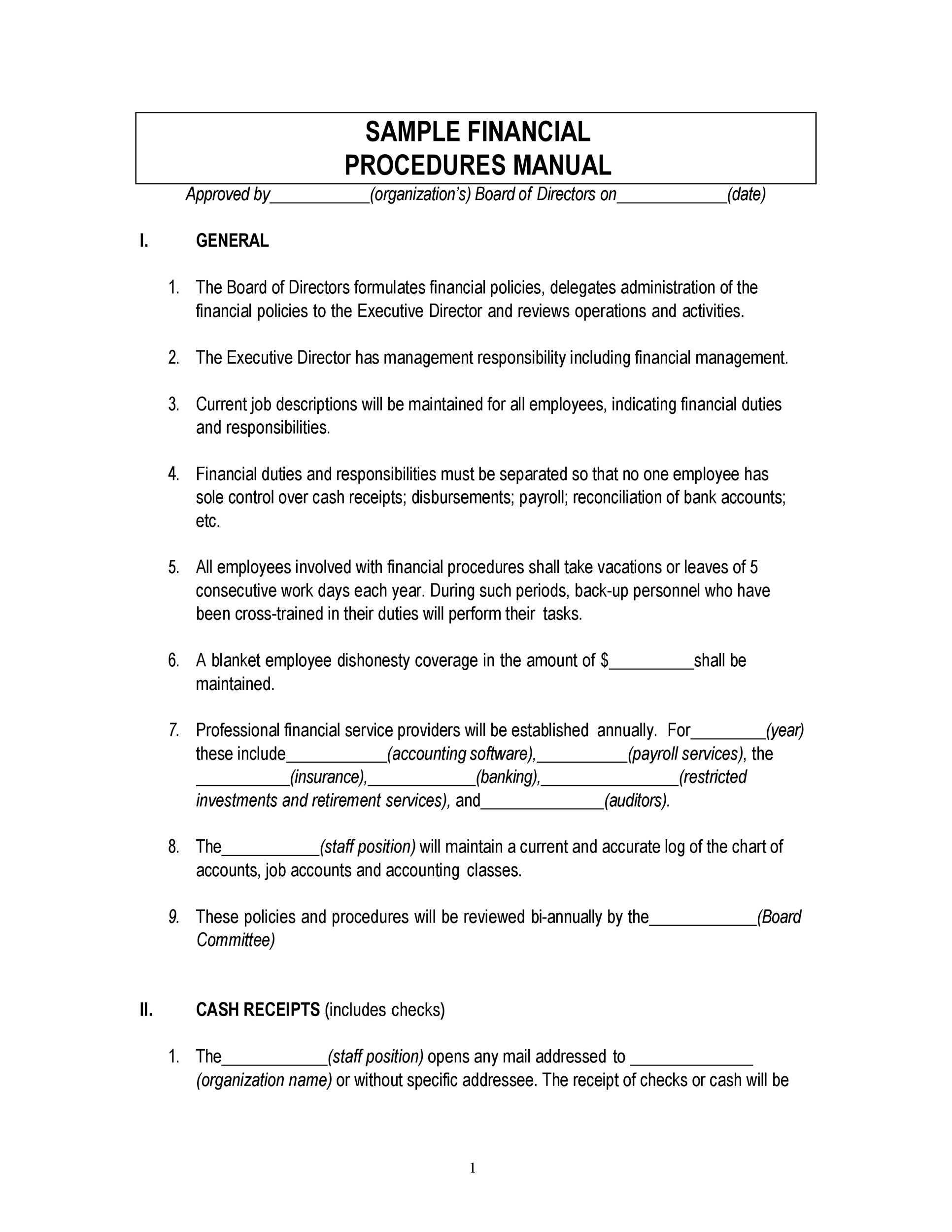 Free instruction manual template 24