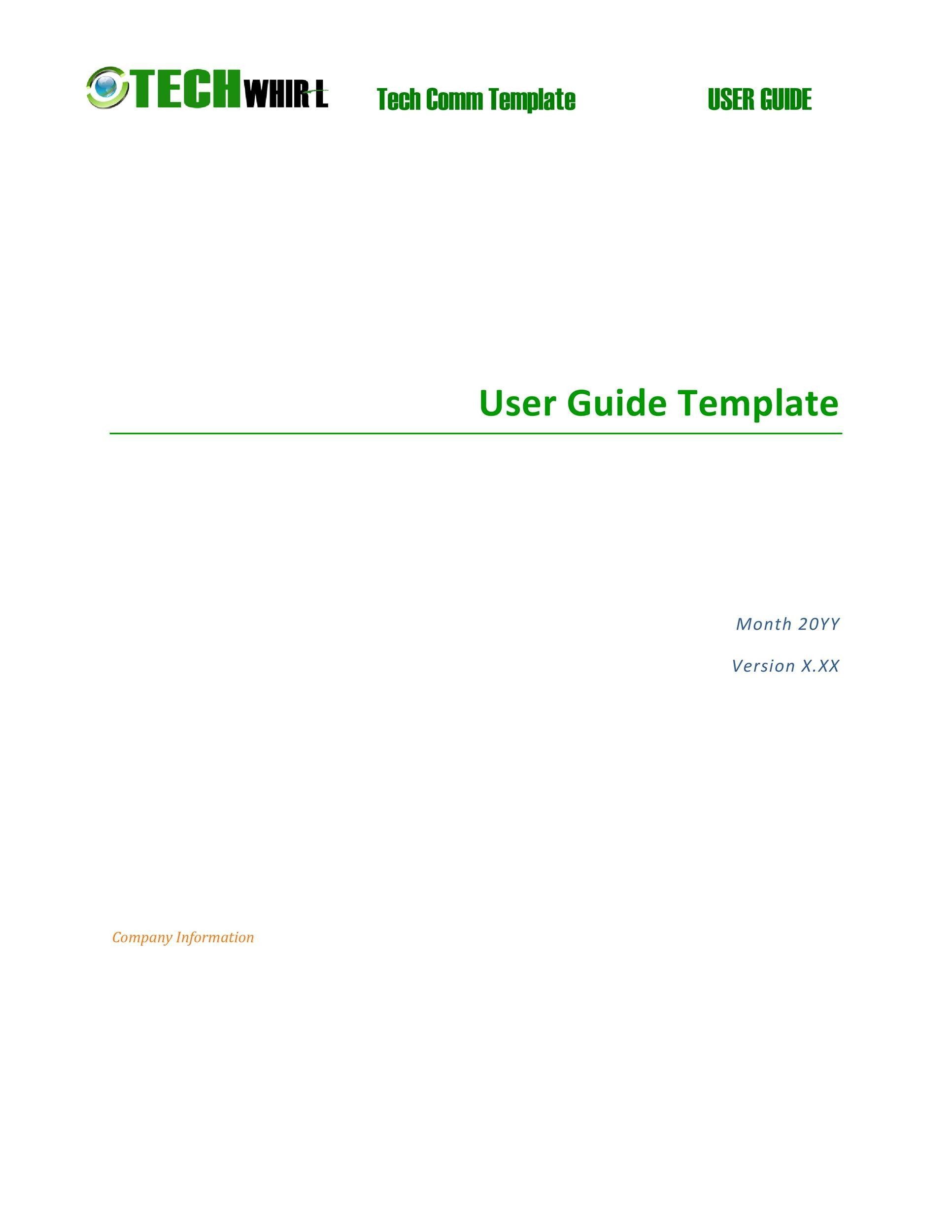 Free instruction manual template 39
