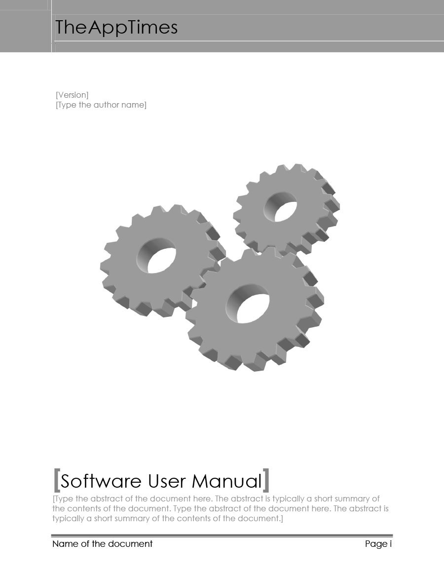 Free instruction manual template 40