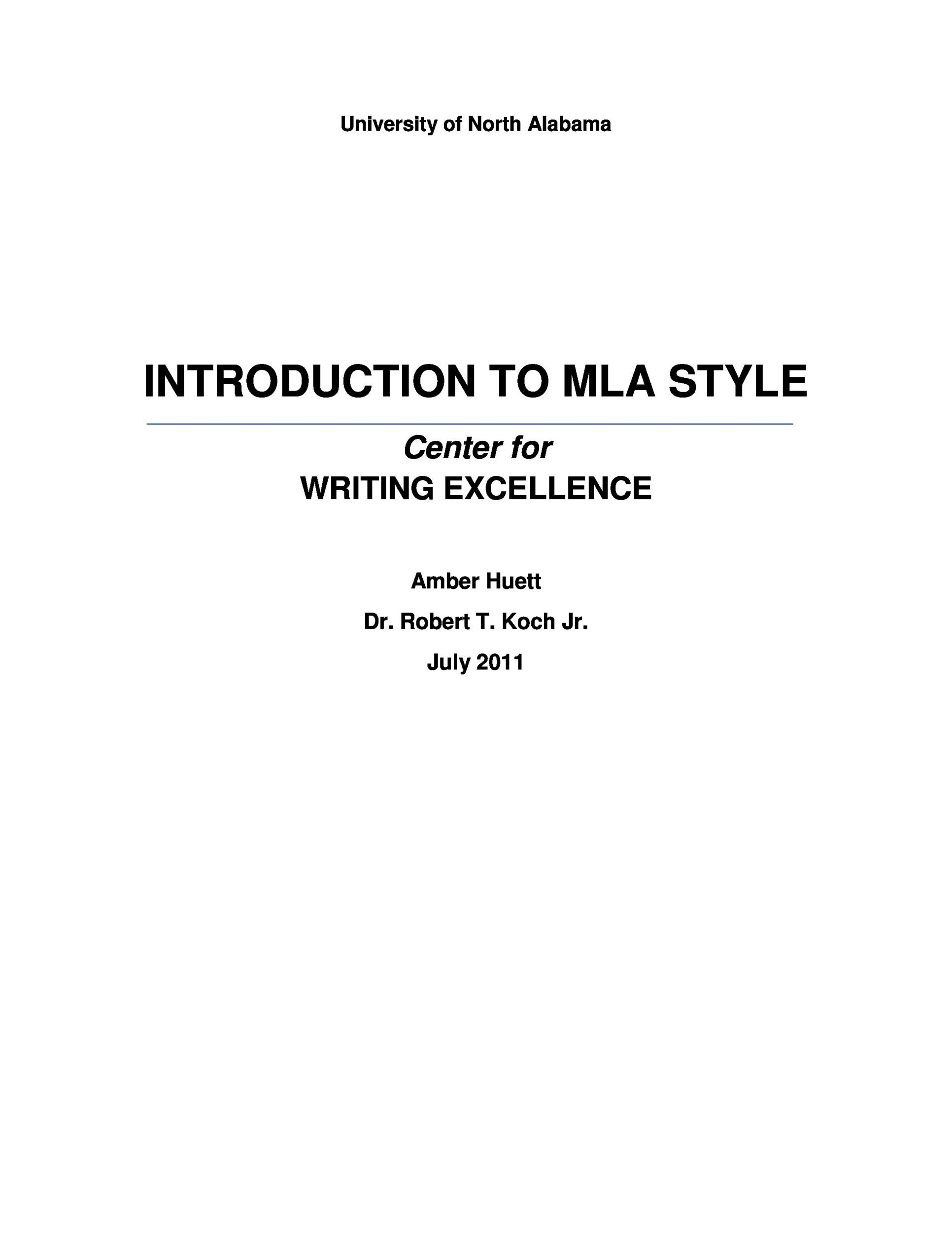 Free mla format template 09