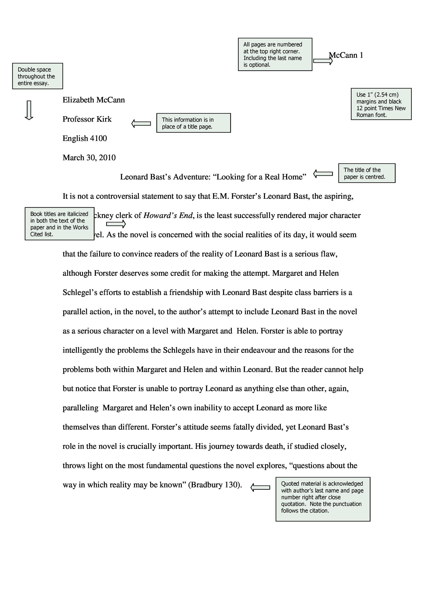 Free mla format template 25