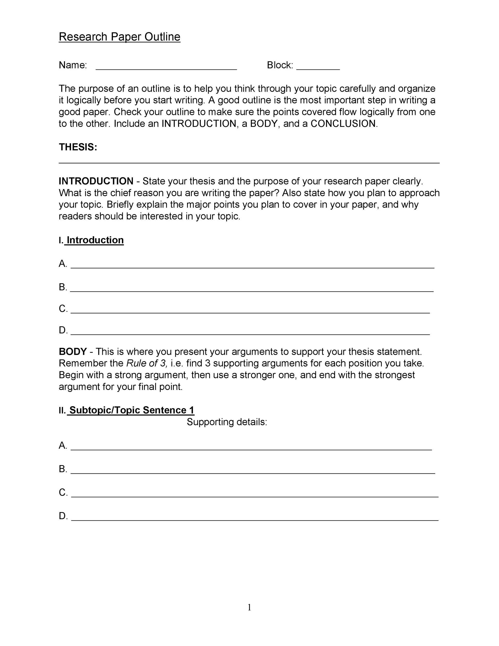 mla research paper topics