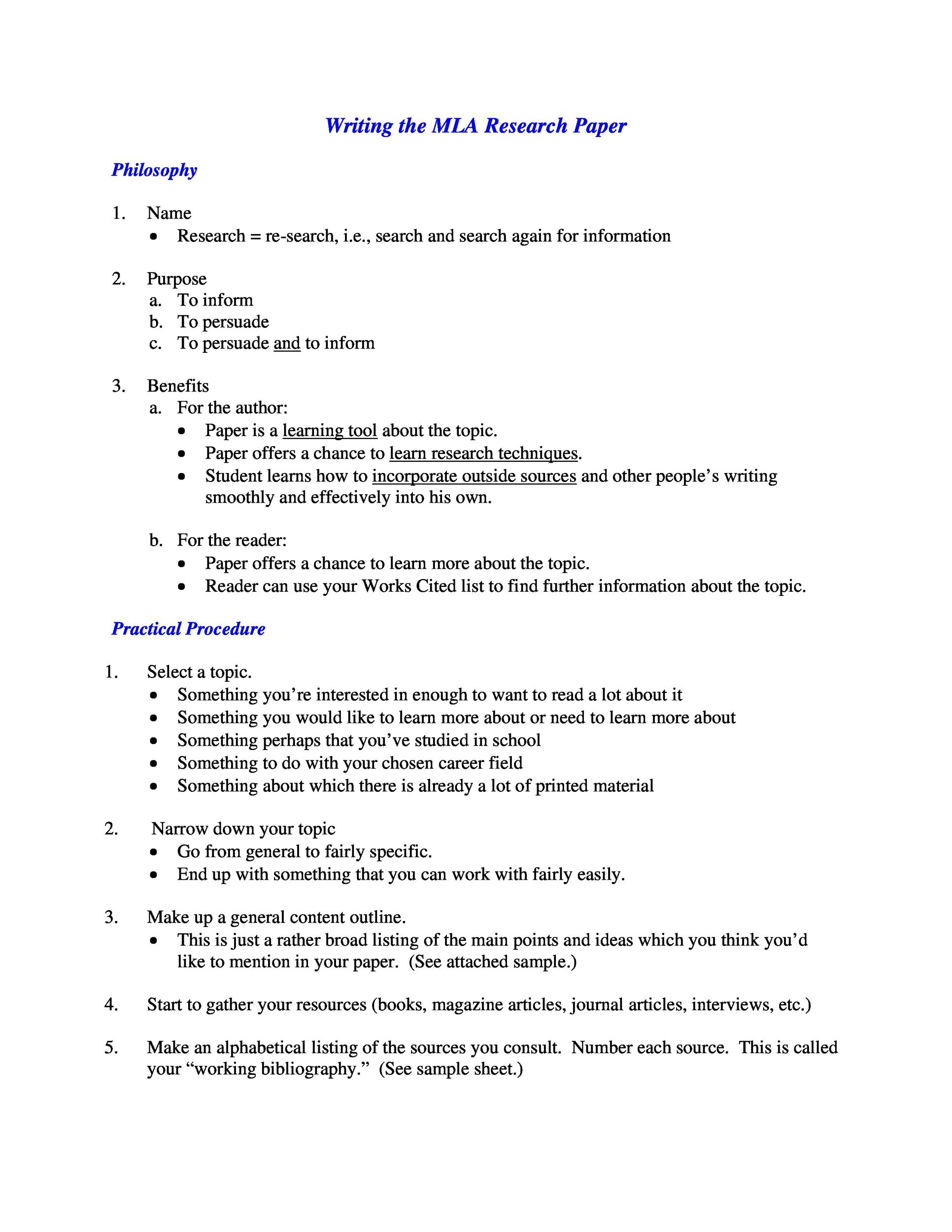 Free mla format template 39