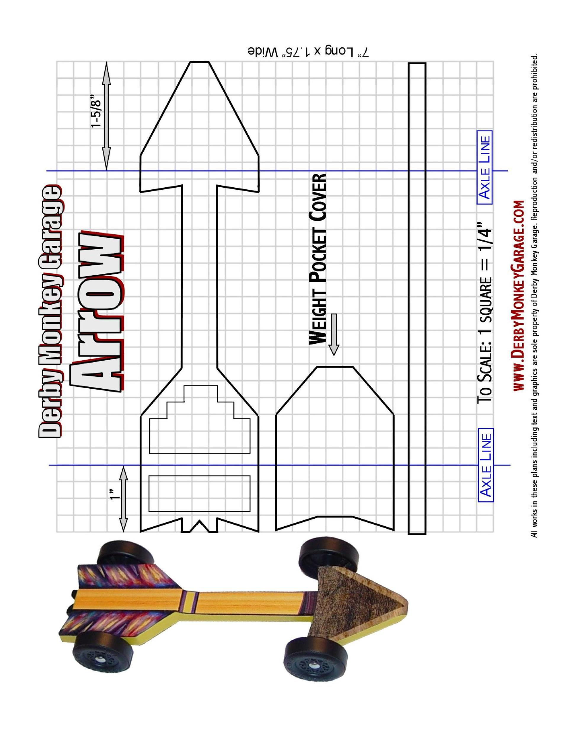 Free pinewood derby templates 01