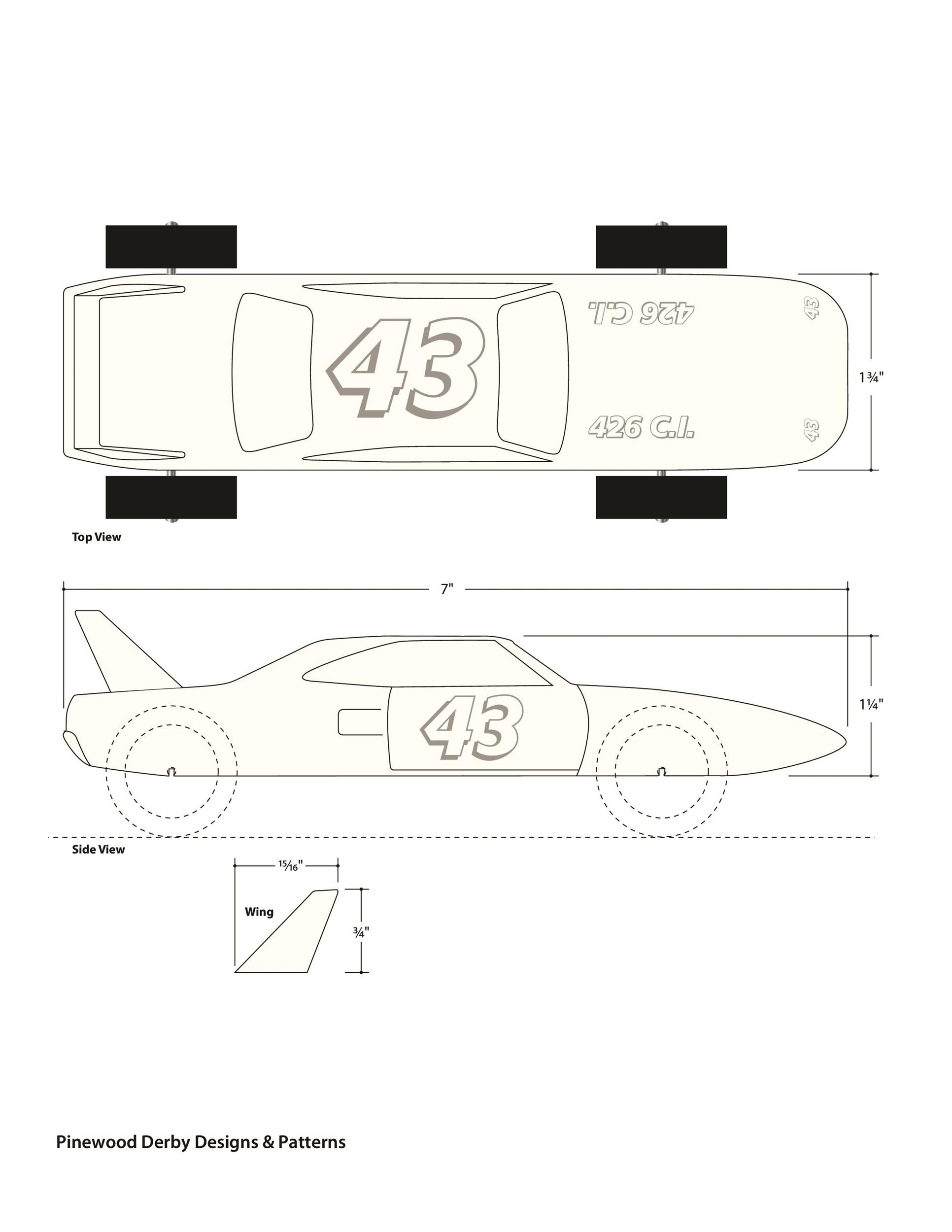 free pinewood derby templates 02
