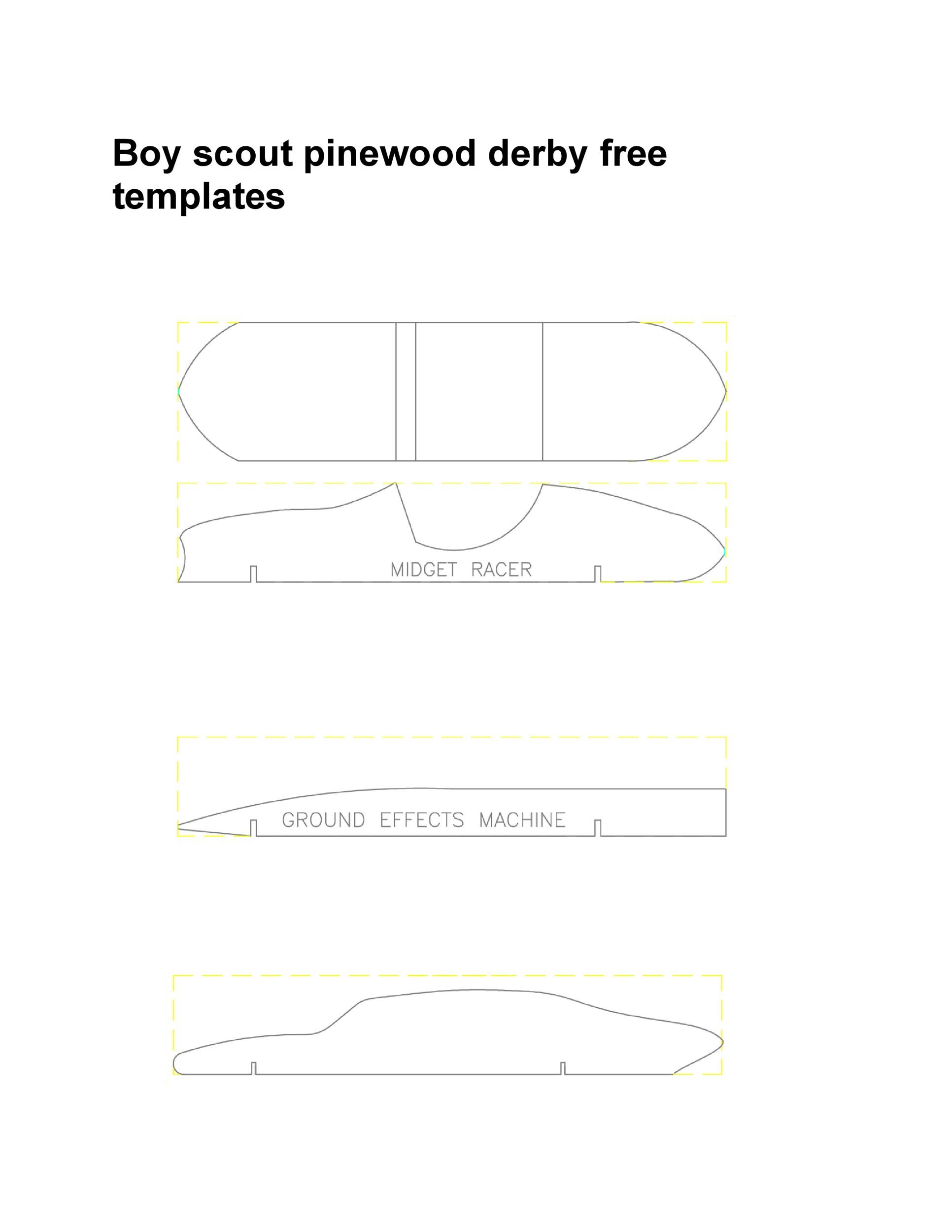 Free pinewood derby templates 05