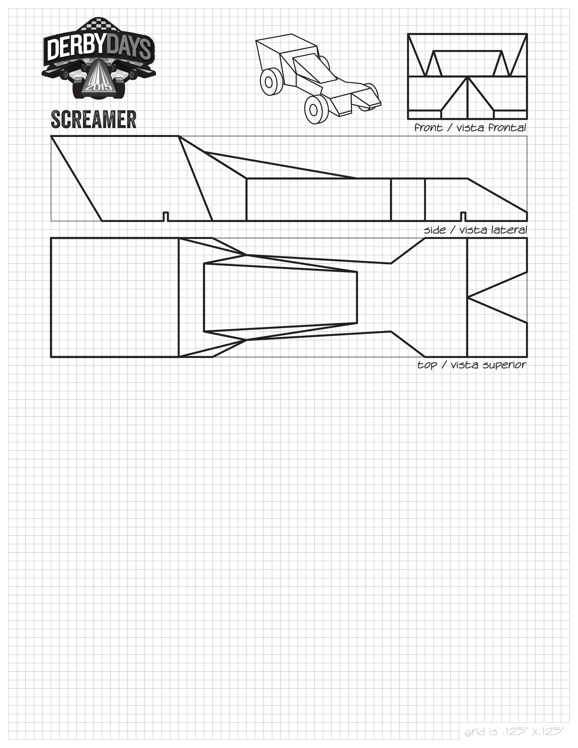 It's just a graphic of Bewitching Pinewood Derby Car Templates Printable