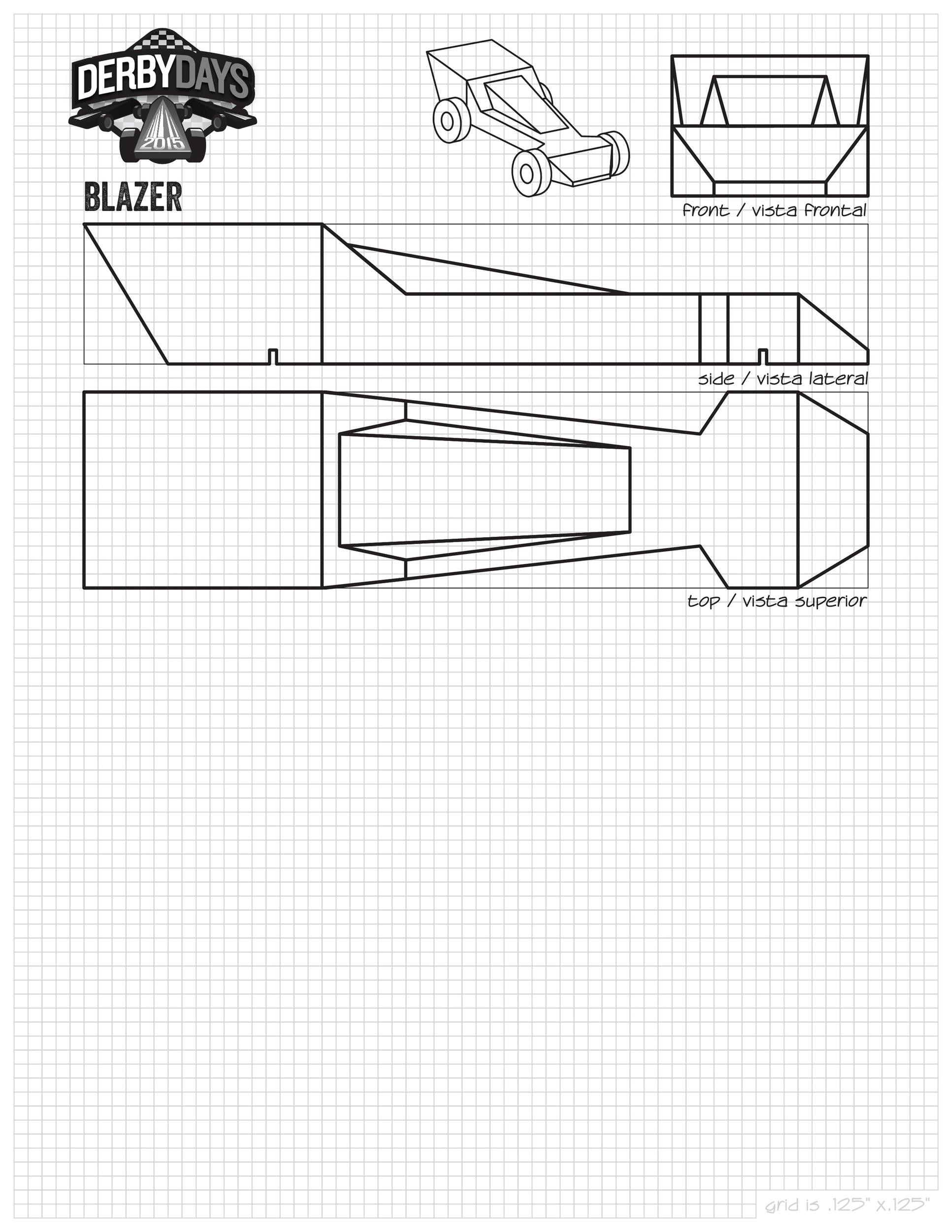 Free pinewood derby templates 08