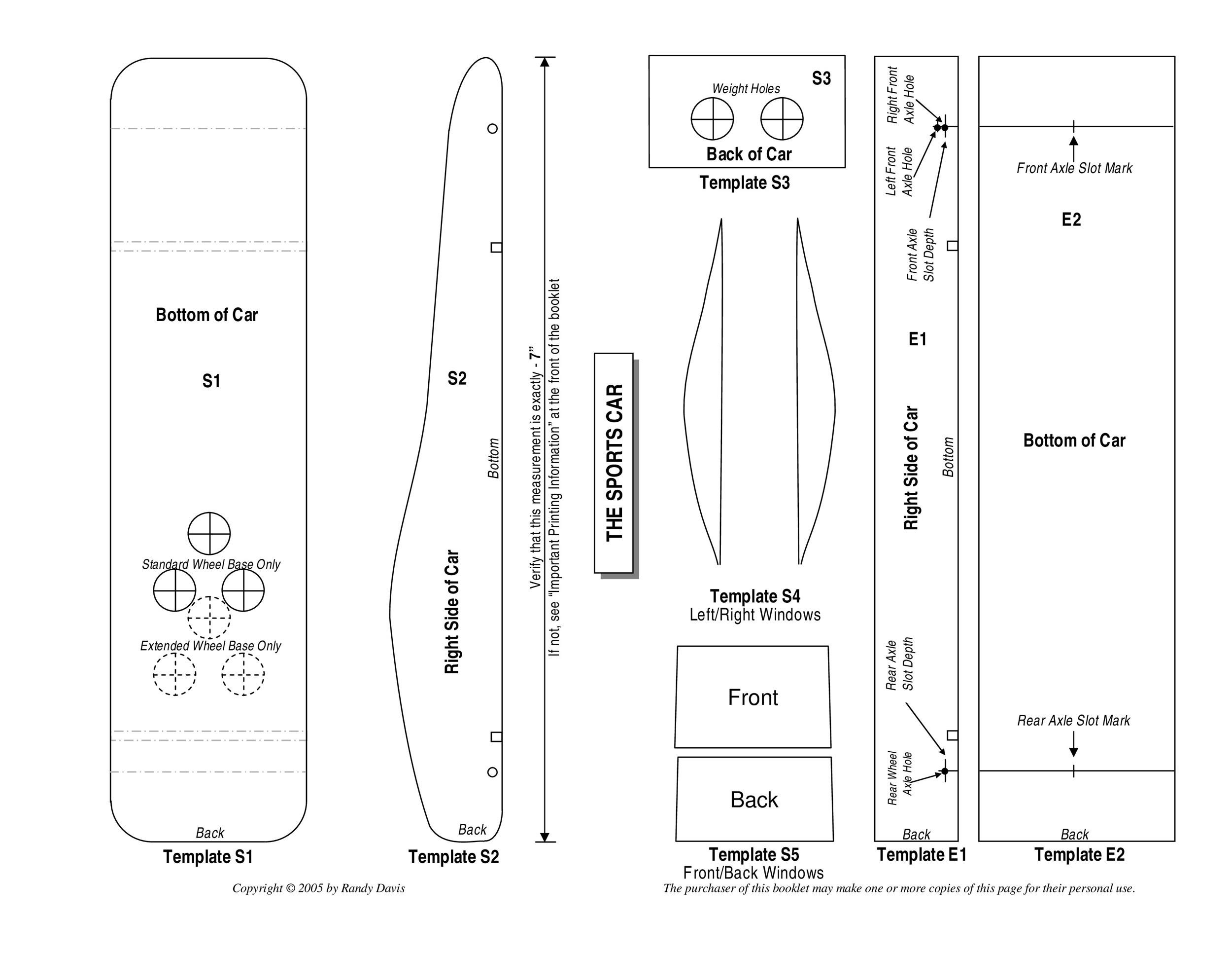 photograph regarding Free Pinewood Derby Templates Printable named 39 Wonderful Pinewood Derby Vehicle Plans Templates ᐅ