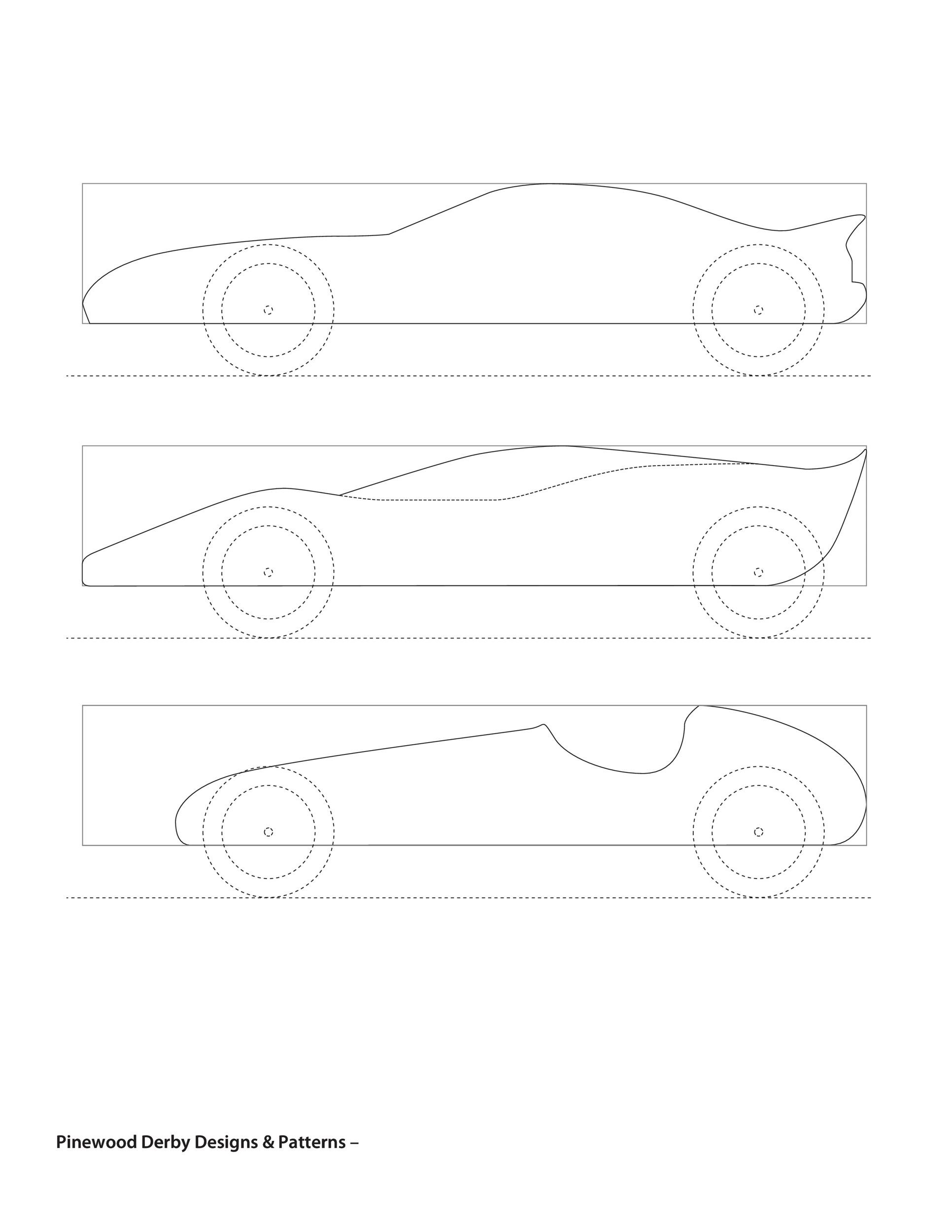 Free pinewood derby templates 11