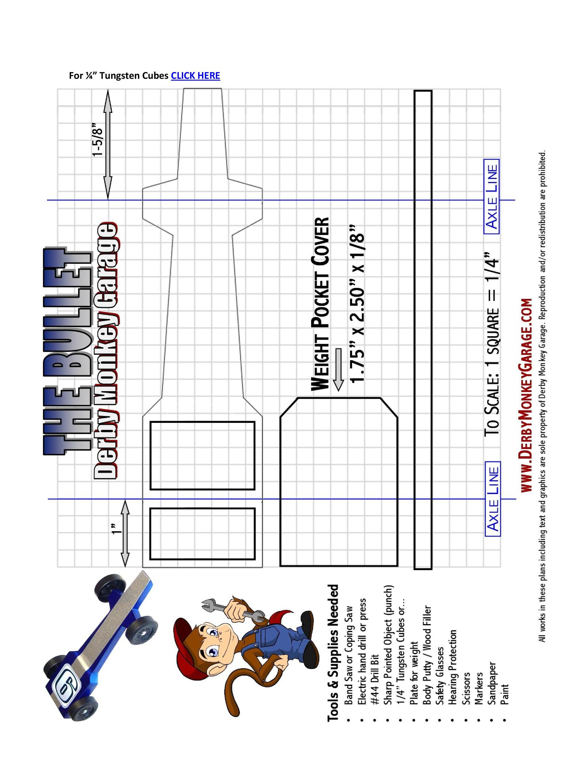 Free pinewood derby templates 12