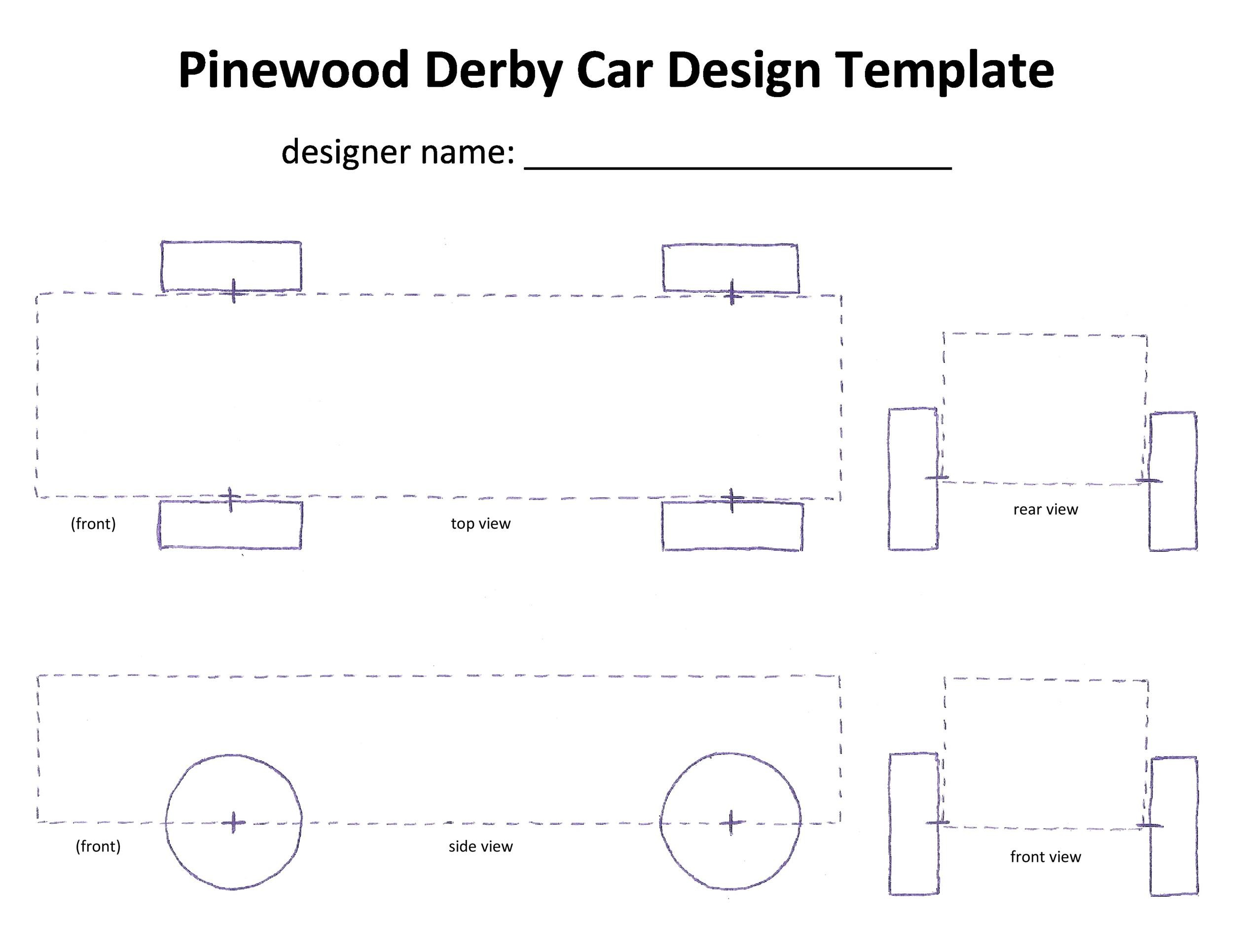 Free pinewood derby templates 14