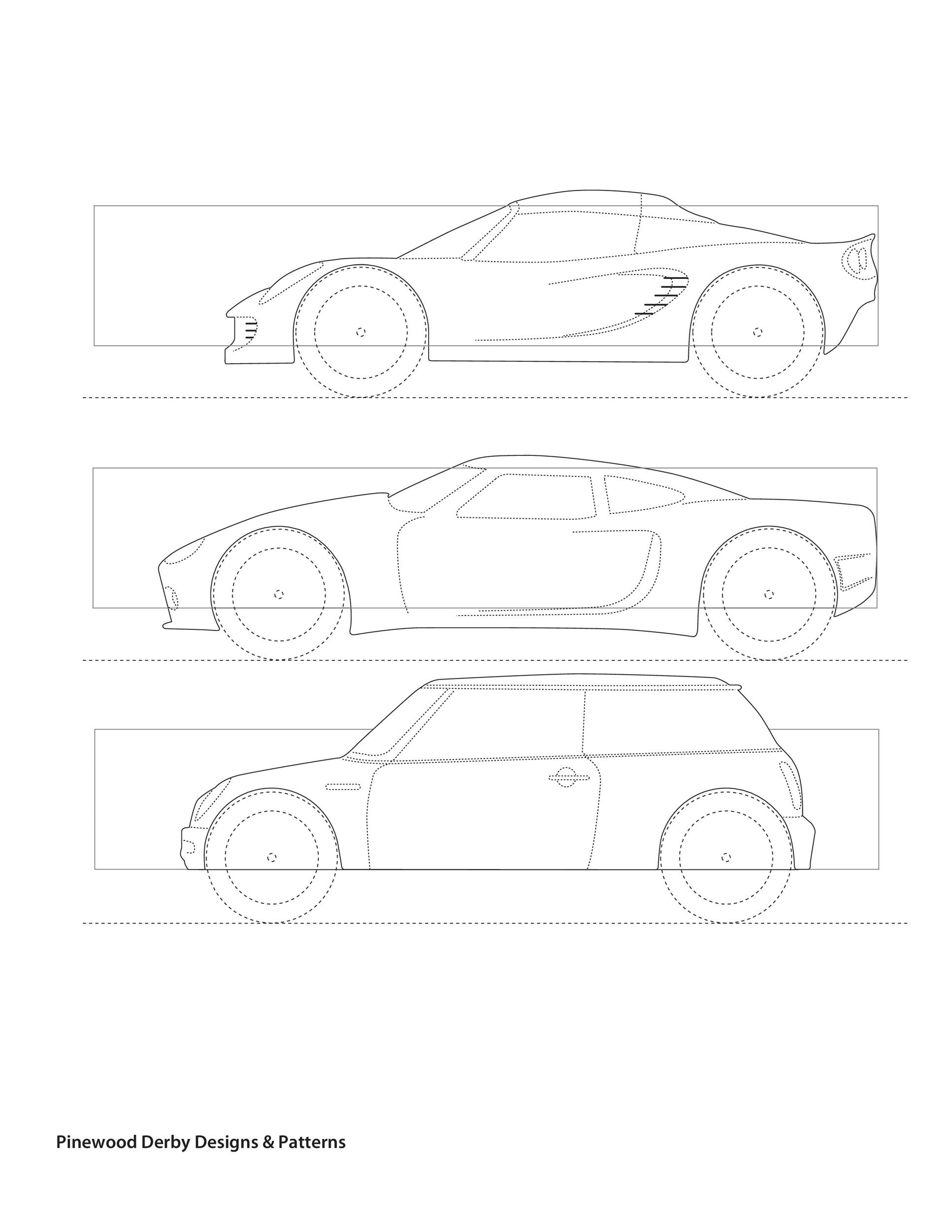 graphic regarding Printable Pinewood Derby Car Templates identify 39 Incredible Pinewood Derby Car or truck Styles Templates ᐅ