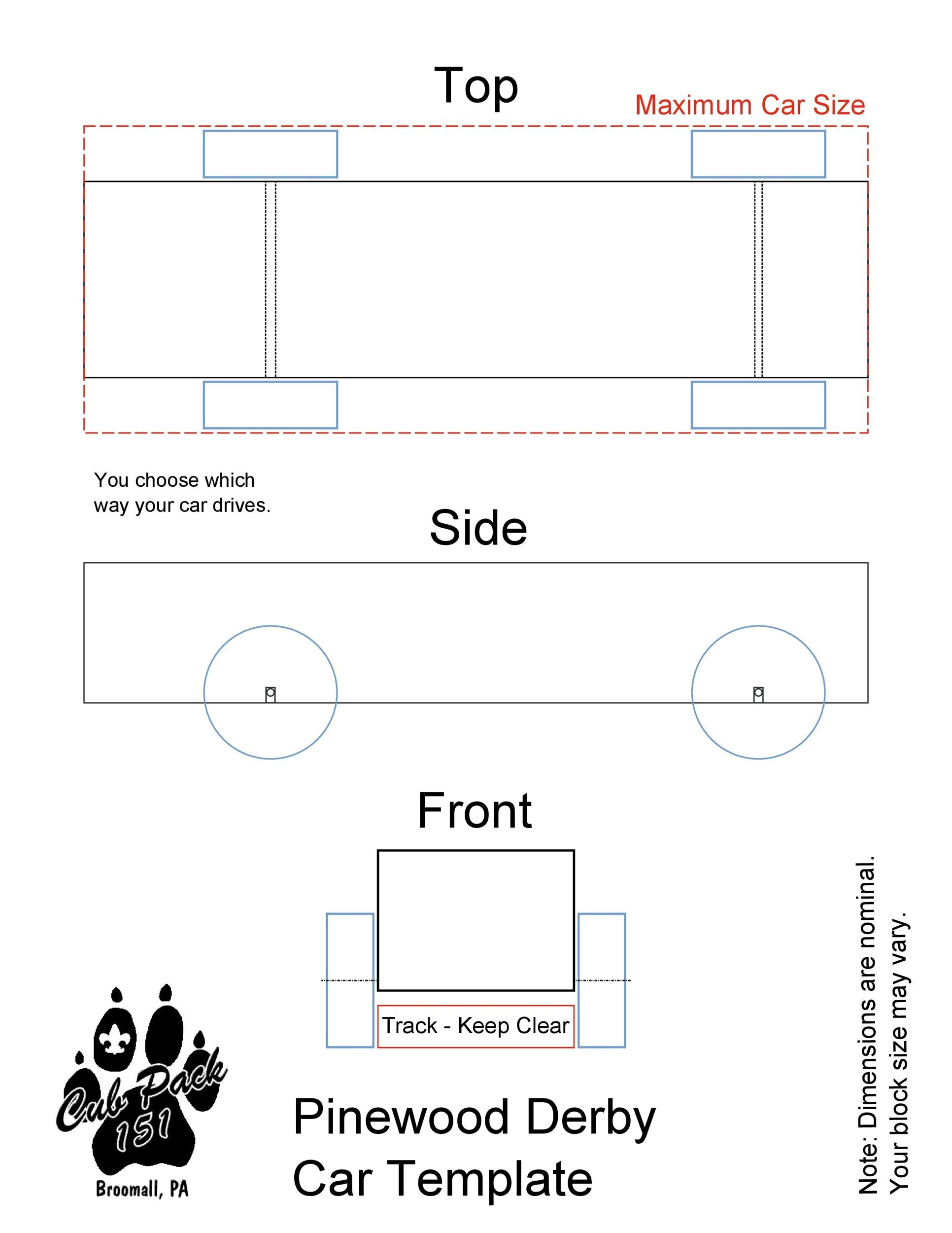 Free pinewood derby templates 23