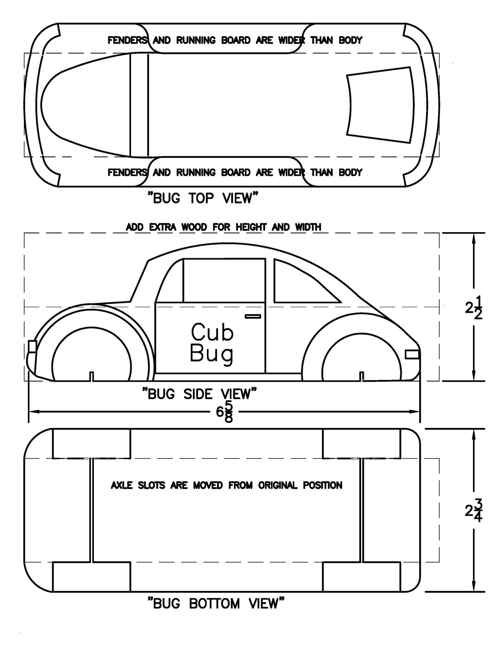 Free pinewood derby templates 25