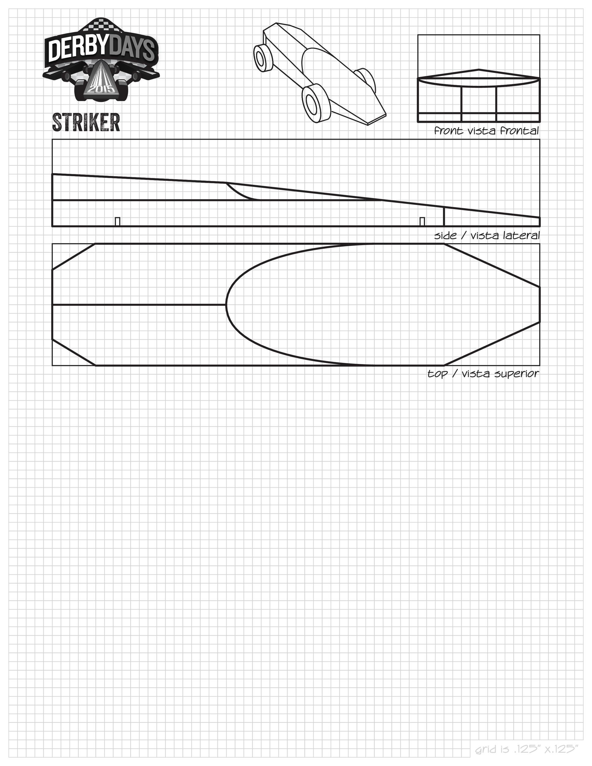 Free pinewood derby templates 32