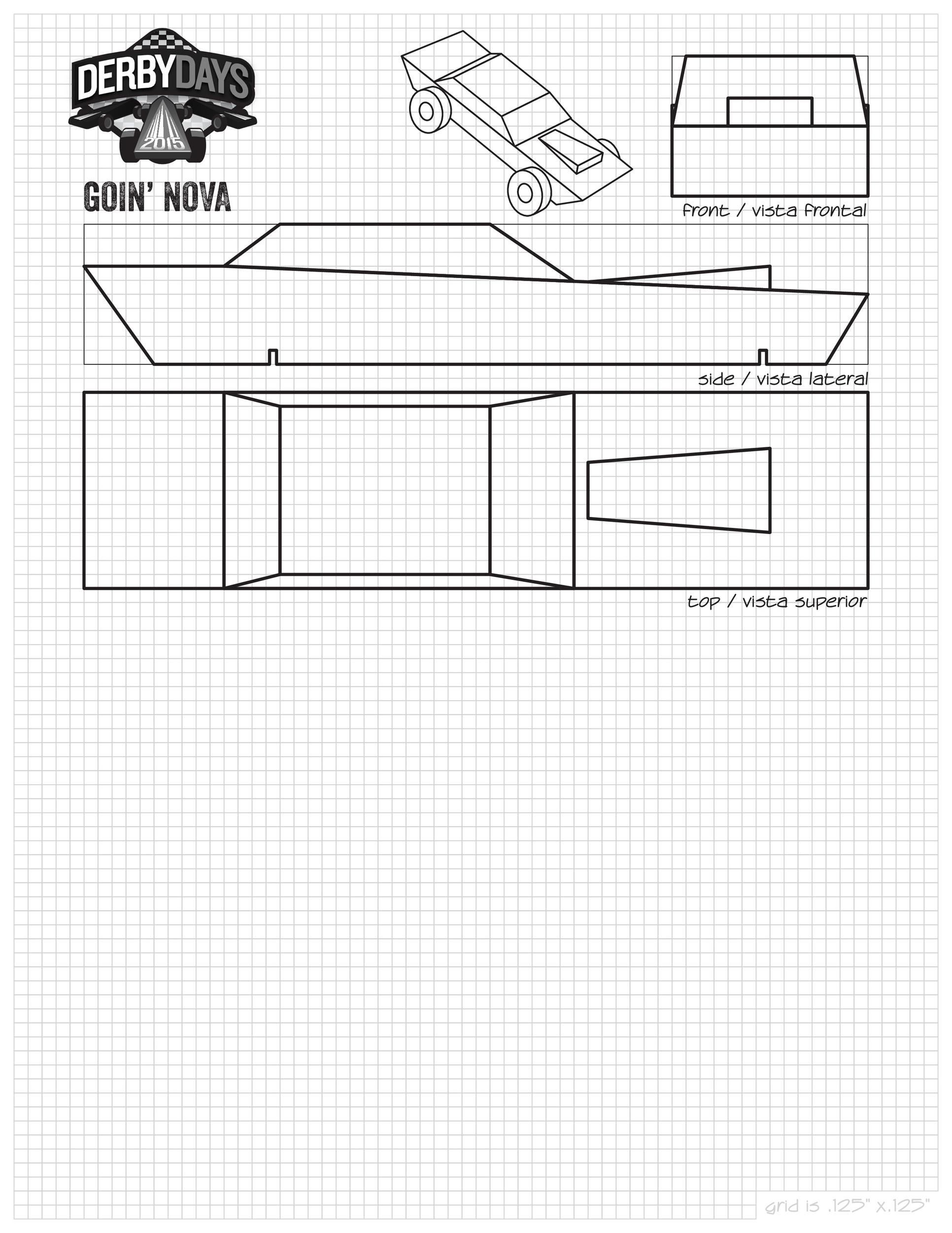 This is an image of Priceless Pinewood Derby Car Templates Printable